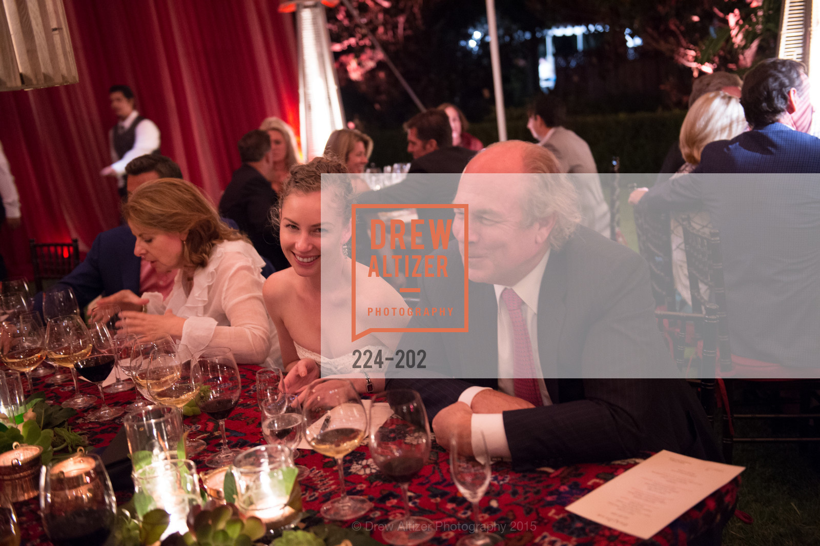Alexandra Meijer, John Fry, Festival del Sole Patron Dinner at Darioush Winery, Darioush Winery. 4240 Silverado Trail, July 24th, 2015,Drew Altizer, Drew Altizer Photography, full-service agency, private events, San Francisco photographer, photographer california