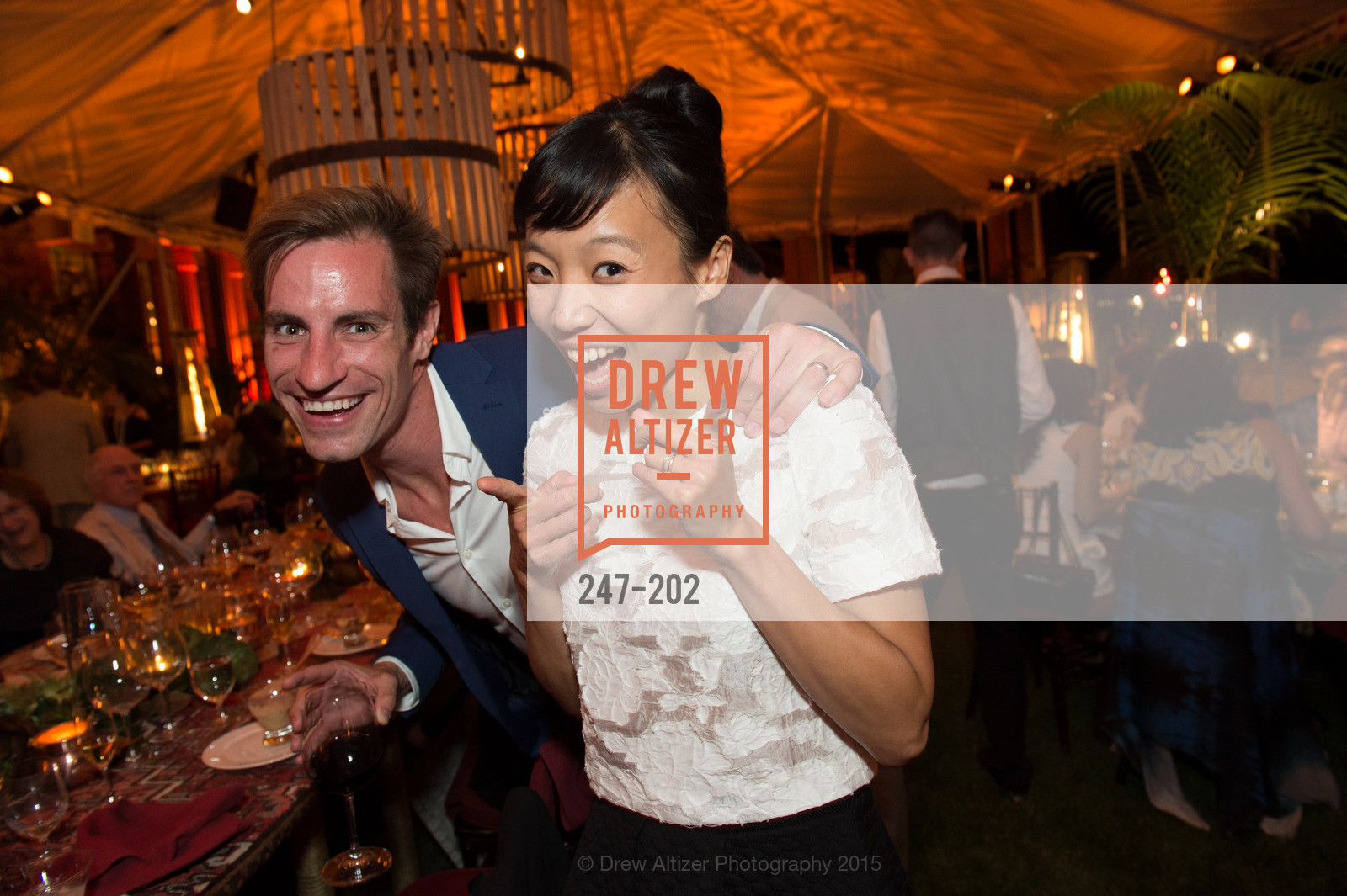 Andrew Veyette, Frances Chung, Festival del Sole Patron Dinner at Darioush Winery, Darioush Winery. 4240 Silverado Trail, July 24th, 2015,Drew Altizer, Drew Altizer Photography, full-service agency, private events, San Francisco photographer, photographer california