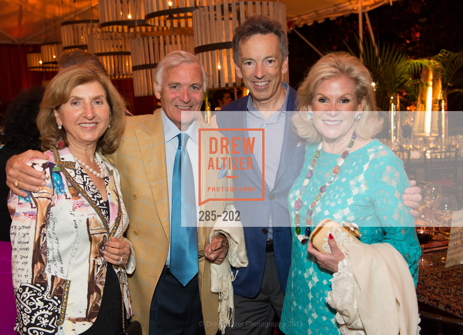 Rita Castellucci, Antonio Castellucci, Rick Walker, Dede Wilsey, Festival del Sole Patron Dinner at Darioush Winery, Darioush Winery. 4240 Silverado Trail, July 24th, 2015,Drew Altizer, Drew Altizer Photography, full-service agency, private events, San Francisco photographer, photographer california