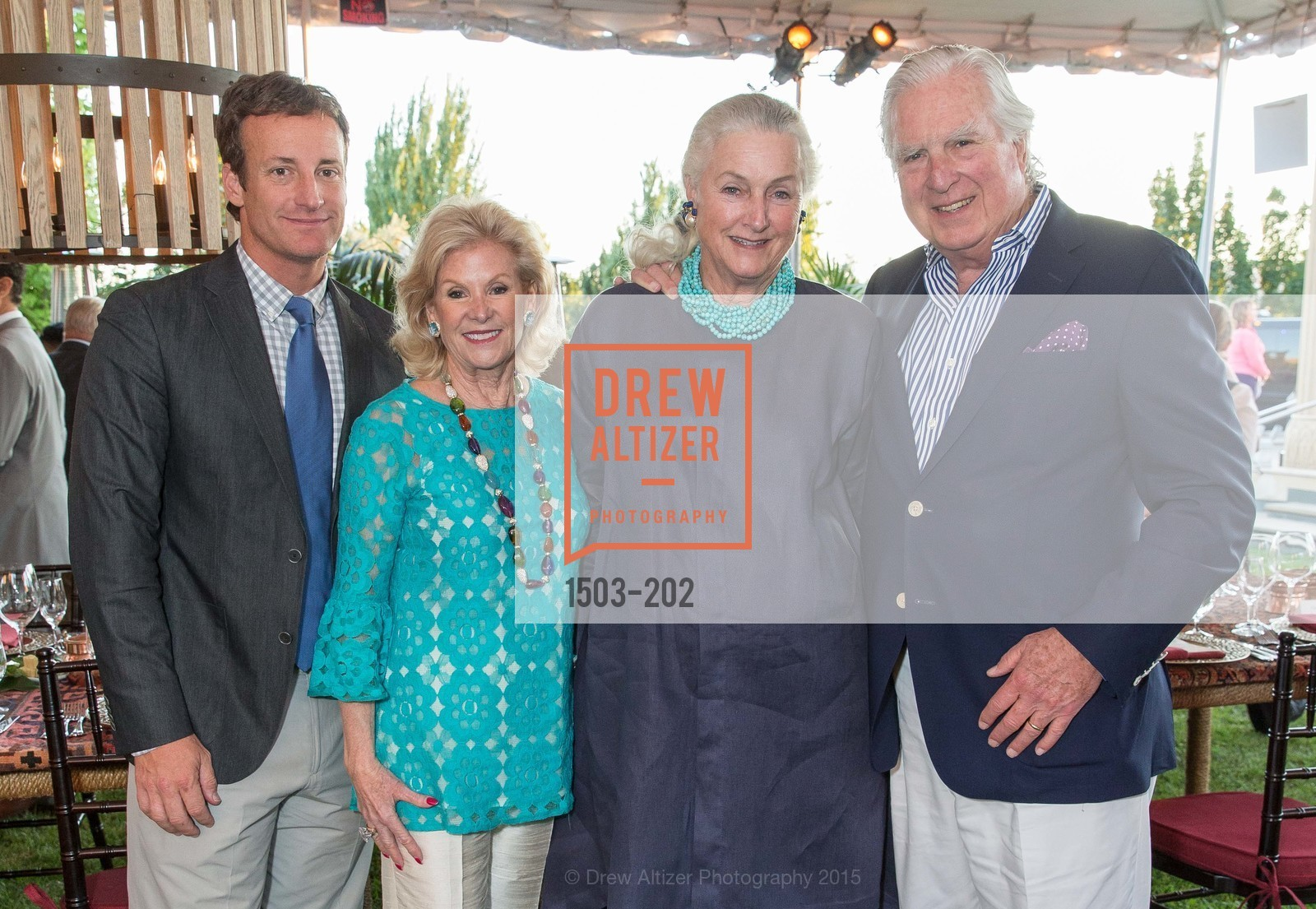 Todd Traina, Dede Wilsey, Elizabeth Swanson, Clarke Swanson, Festival del Sole Patron Dinner at Darioush Winery, Darioush Winery. 4240 Silverado Trail, July 24th, 2015,Drew Altizer, Drew Altizer Photography, full-service agency, private events, San Francisco photographer, photographer california