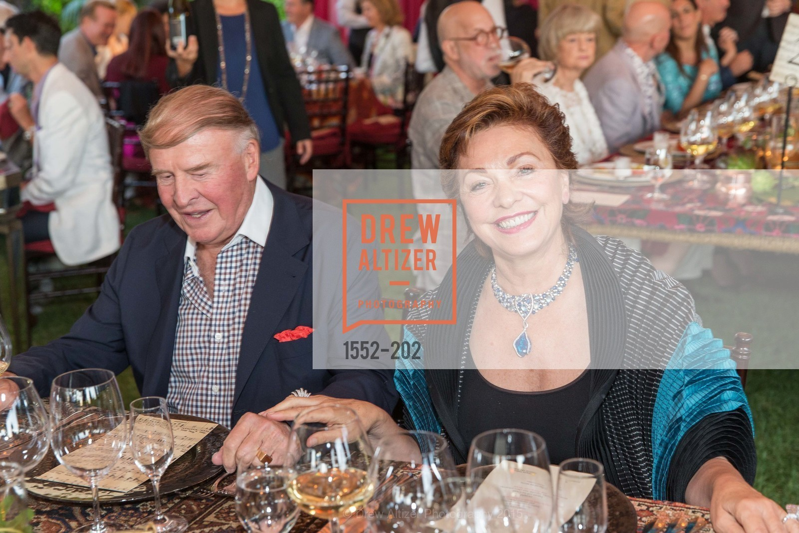 Dick Kramlich, Maria Manetti Shrem, Festival del Sole Patron Dinner at Darioush Winery, Darioush Winery. 4240 Silverado Trail, July 24th, 2015,Drew Altizer, Drew Altizer Photography, full-service agency, private events, San Francisco photographer, photographer california