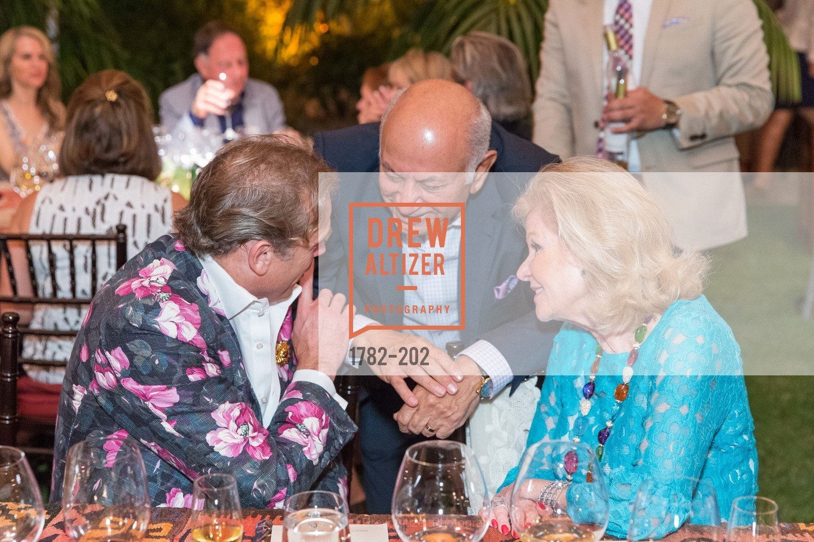 Jean-Charles Boisset, Darioush Khaledi, Dede Wilsey, Festival del Sole Patron Dinner at Darioush Winery, Darioush Winery. 4240 Silverado Trail, July 24th, 2015,Drew Altizer, Drew Altizer Photography, full-service agency, private events, San Francisco photographer, photographer california