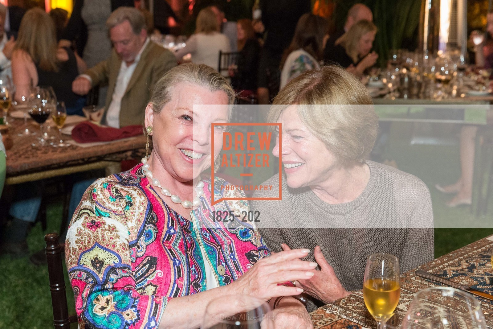 Jeanne Lawrence, Pam Kramlich, Festival del Sole Patron Dinner at Darioush Winery, Darioush Winery. 4240 Silverado Trail, July 24th, 2015,Drew Altizer, Drew Altizer Photography, full-service agency, private events, San Francisco photographer, photographer california