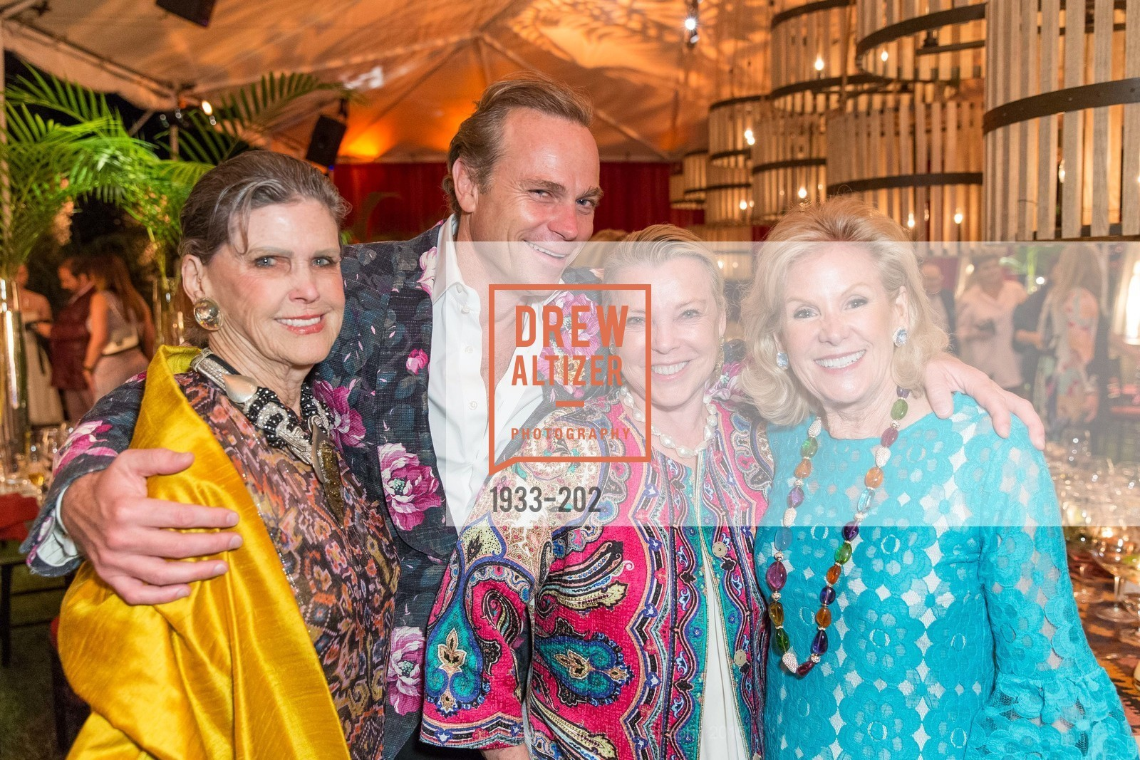 Donna Long, Jean-Charles Boisset, Jeanne Lawrence, Dede Wilsey, Festival del Sole Patron Dinner at Darioush Winery, Darioush Winery. 4240 Silverado Trail, July 24th, 2015,Drew Altizer, Drew Altizer Photography, full-service event agency, private events, San Francisco photographer, photographer California