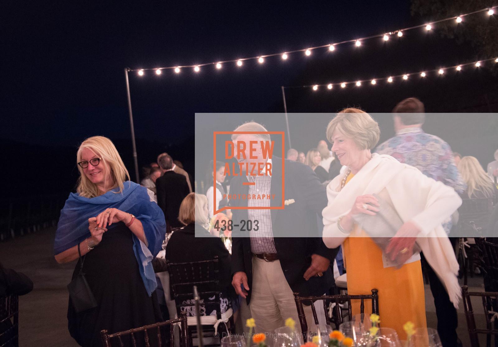 Suzanne Deal Booth, Dick Kramlich, Pam Kramlich, Festival del Sole Patron Dinner at Odette Estate, Odette Estate. 5998 Silverado Trail, July 26th, 2015,Drew Altizer, Drew Altizer Photography, full-service agency, private events, San Francisco photographer, photographer california