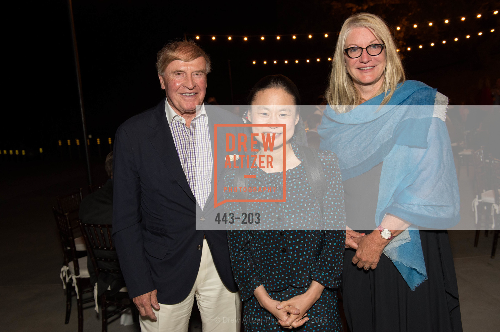 Dick Kramlich, Midori, Suzanne Deal Booth, Festival del Sole Patron Dinner at Odette Estate, Odette Estate. 5998 Silverado Trail, July 26th, 2015,Drew Altizer, Drew Altizer Photography, full-service agency, private events, San Francisco photographer, photographer california