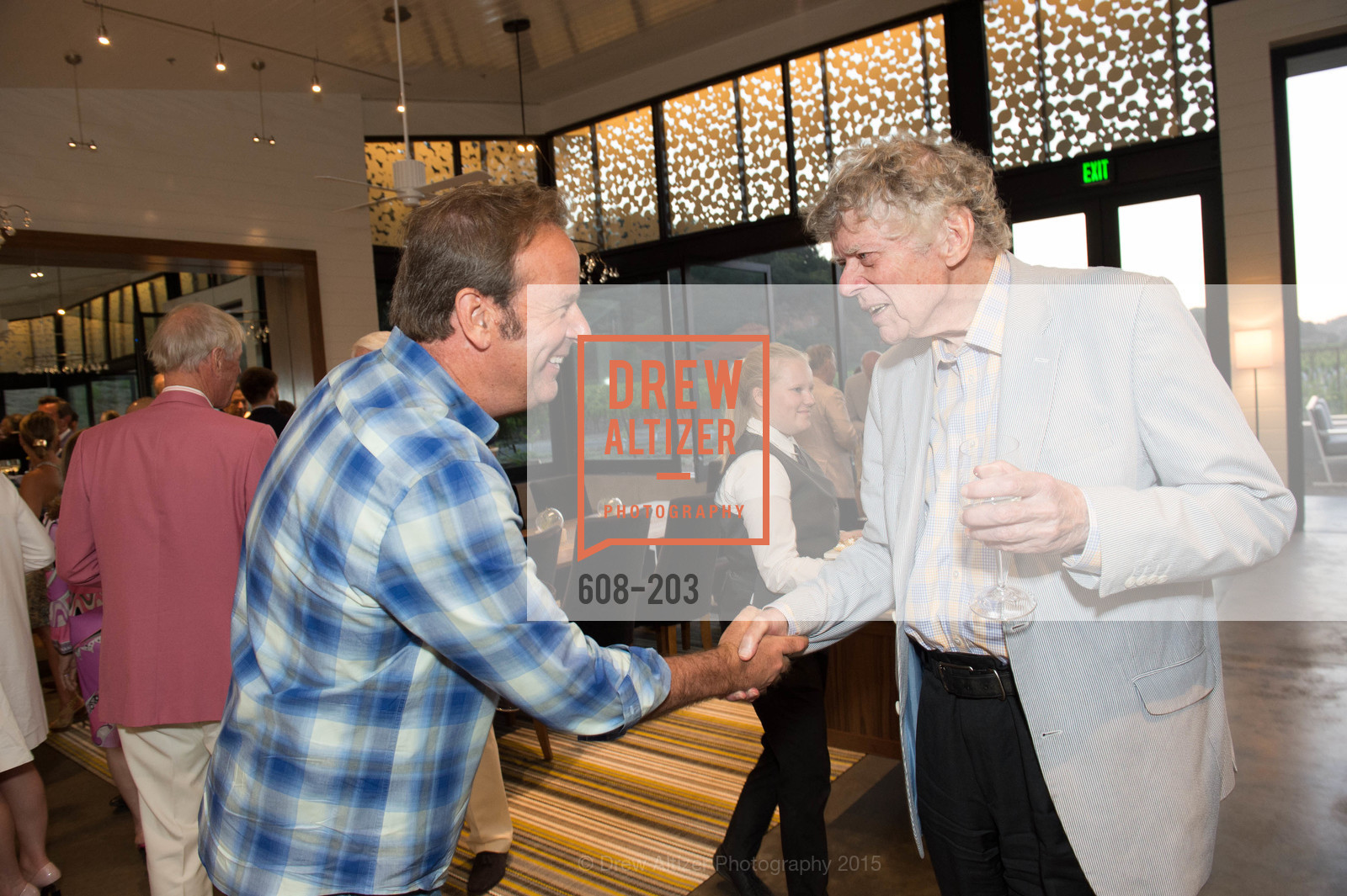 John Conover, Gordon Getty, Festival del Sole Patron Dinner at Odette Estate, Odette Estate. 5998 Silverado Trail, July 26th, 2015