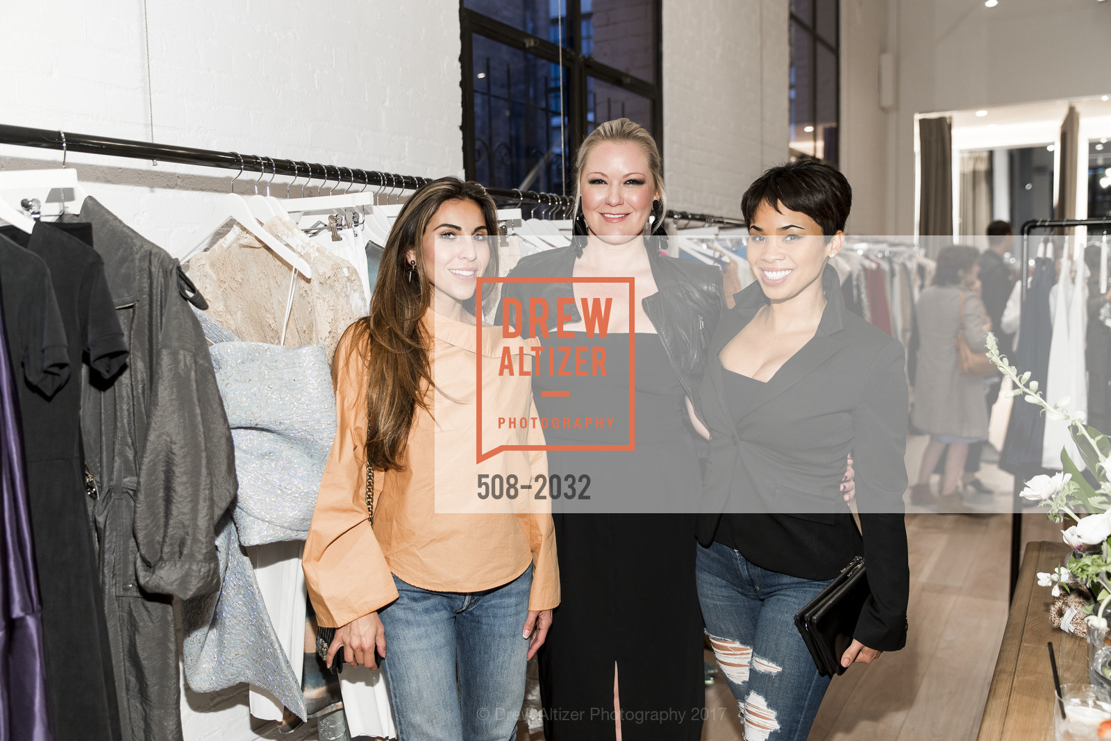 Nazy Fotoohi, Liz Curtis, Moanalani Jeffrey, Nellie Partow F17 Trunkshow at PIA (The Store), PIA. 414 Jackson St.  San Francisco, California, April 19th, 2017