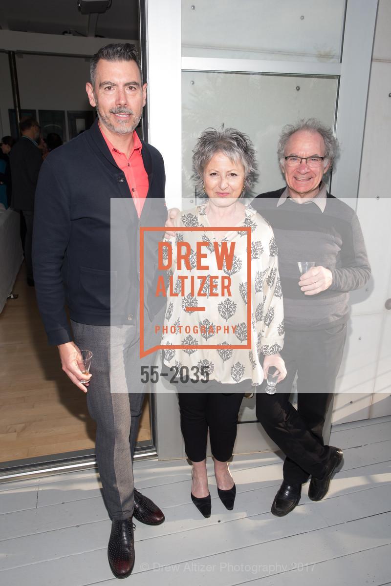JOnathan Massey, Jennifer Morla, Barry Katz, California College of the Arts Pre-Gala Party, Private Residence, April 19th, 2017