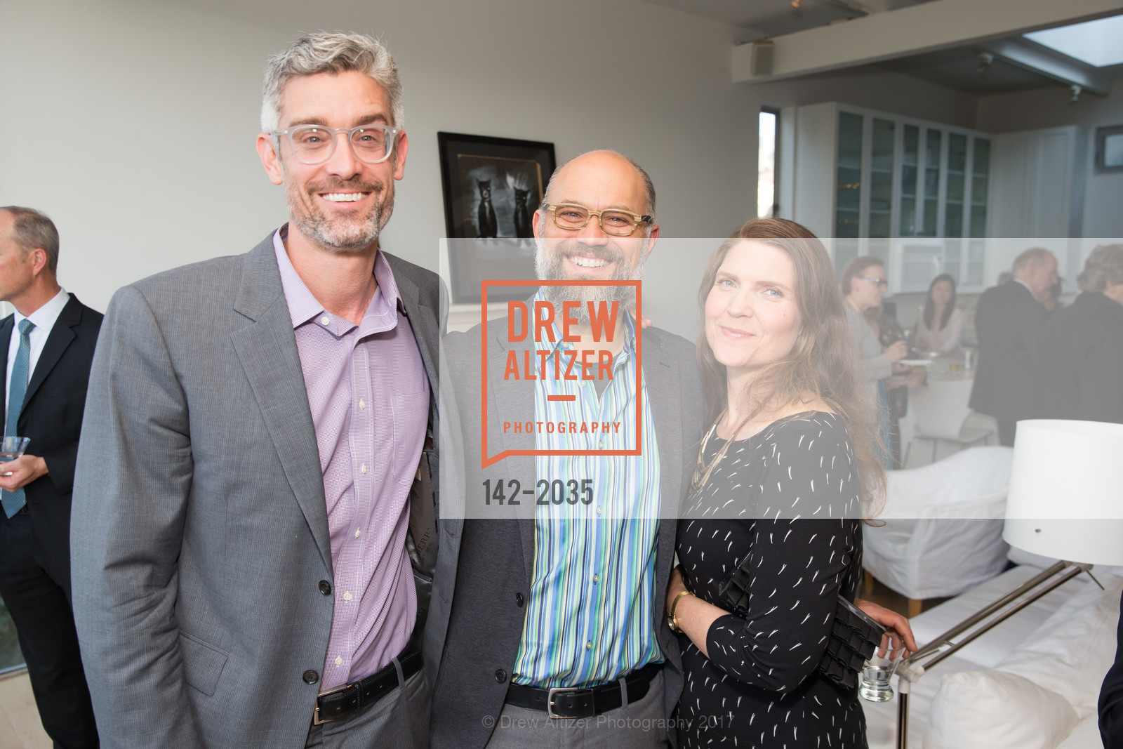 Chris Flink, Kristian Samsarian, Kate Corcoran, California College of the Arts Pre-Gala Party, Private Residence, April 19th, 2017