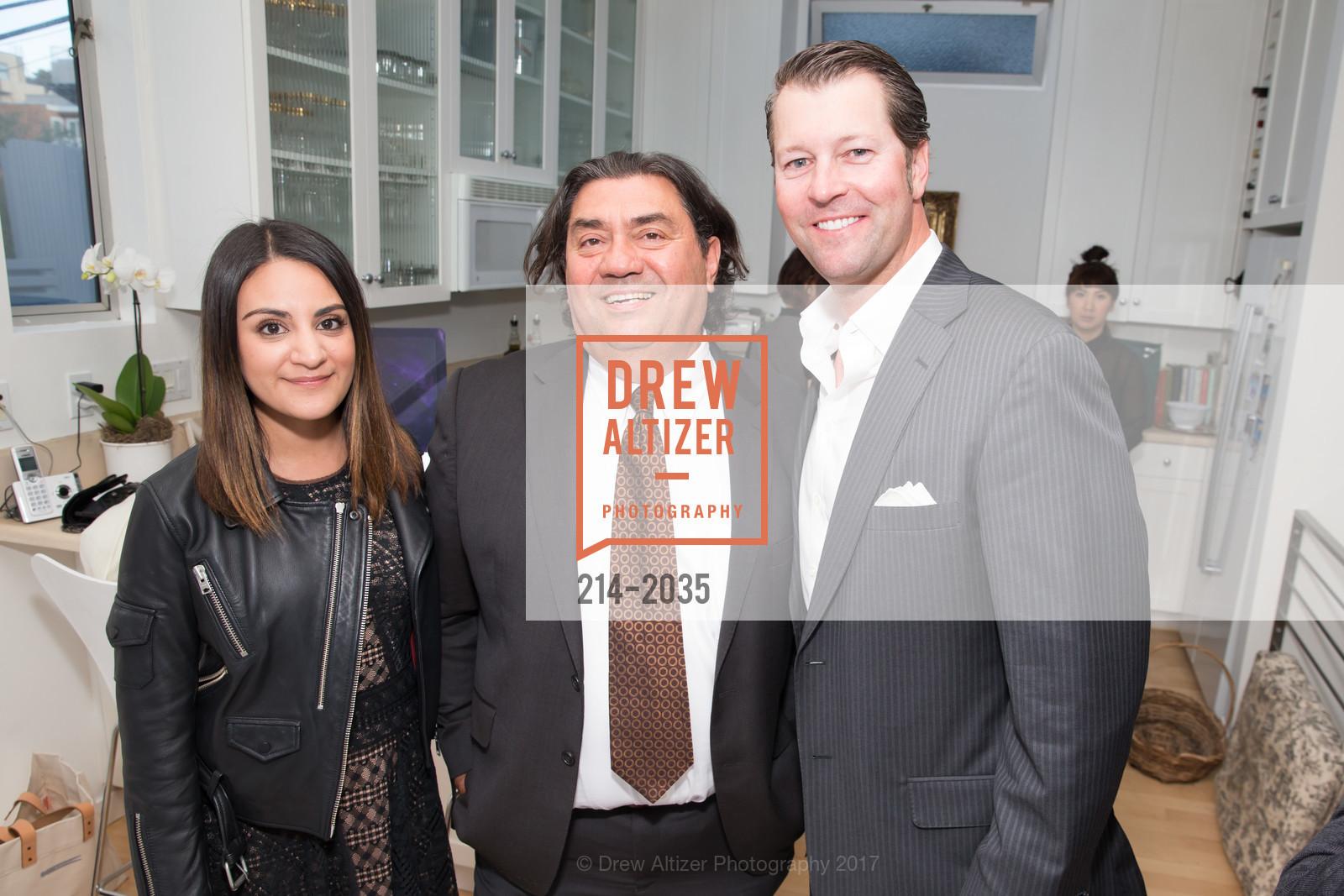 Maria Barron, Nilus de Matran, Jason Hill, California College of the Arts Pre-Gala Party, Private Residence, April 19th, 2017