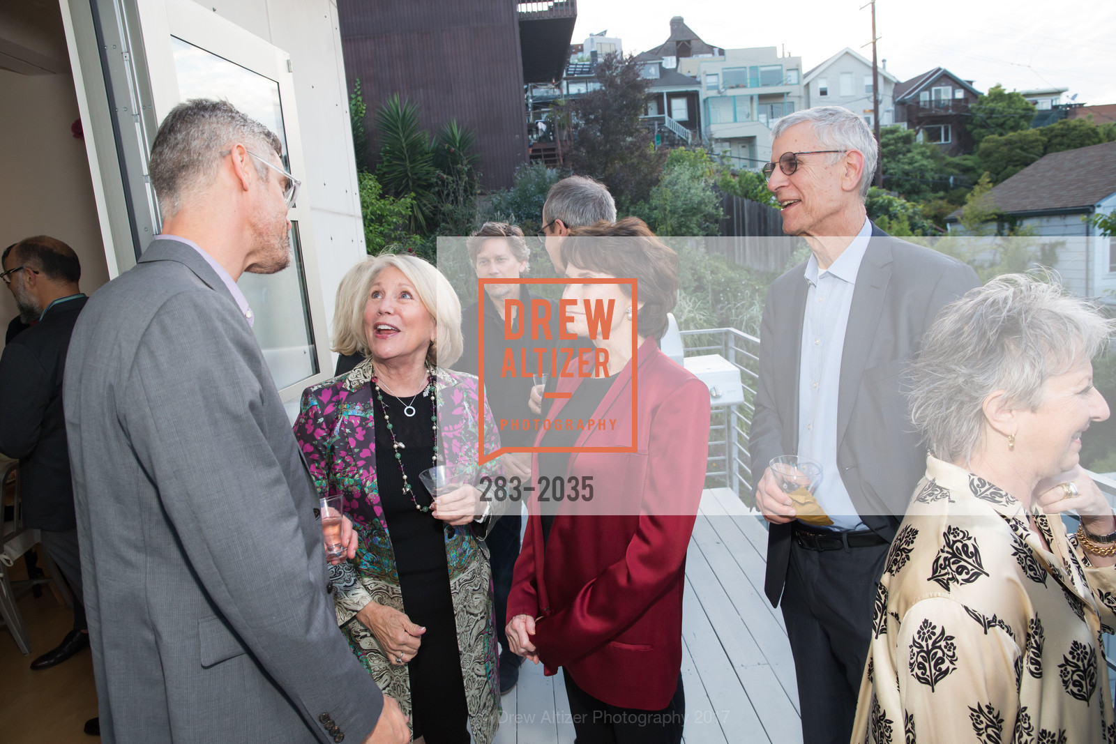 Chris Flink, Patty Fitzpatrick Kay Walker, Stephen Beal, California College of the Arts Pre-Gala Party, Private Residence, April 19th, 2017