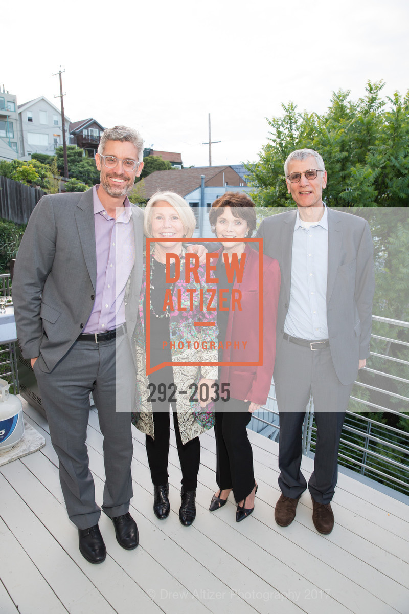 Chris Flink, Patty Fitzpatrick, Kay Walker, Stephen Beal, California College of the Arts Pre-Gala Party, Private Residence, April 19th, 2017