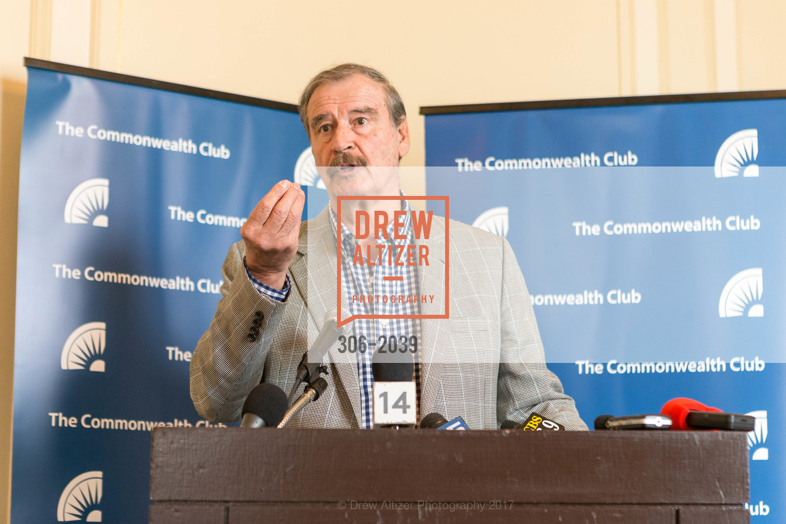 Vicente Fox, Vicente Fox at the Common Wealth Club, Marines Memorial Theatre, 10th Floor, Heritage Room. 609 Sutter Street, April 19th, 2017