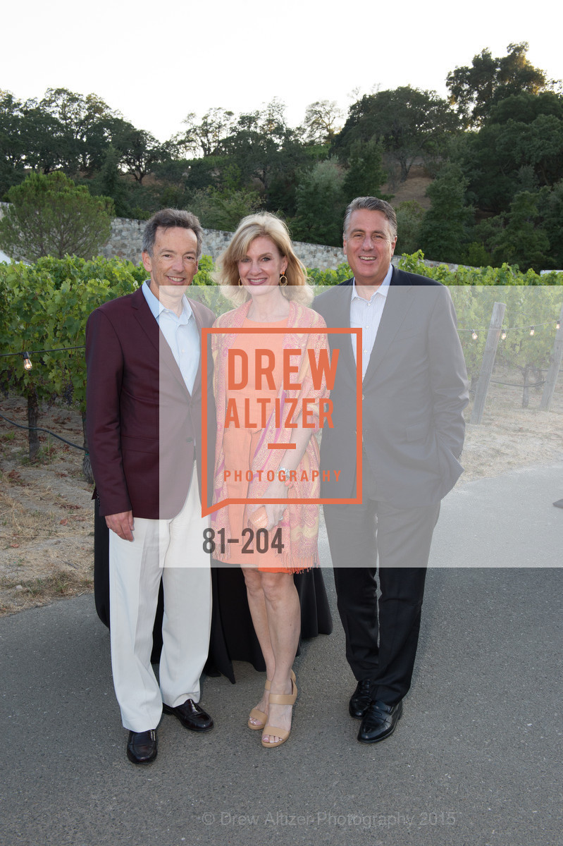 Rick Walker, Karen Walker, David Taub, Festival del Sole Patron Dinner at Quintessa, Quintessa. 1601 Silverado Trail, July 25th, 2015,Drew Altizer, Drew Altizer Photography, full-service agency, private events, San Francisco photographer, photographer california