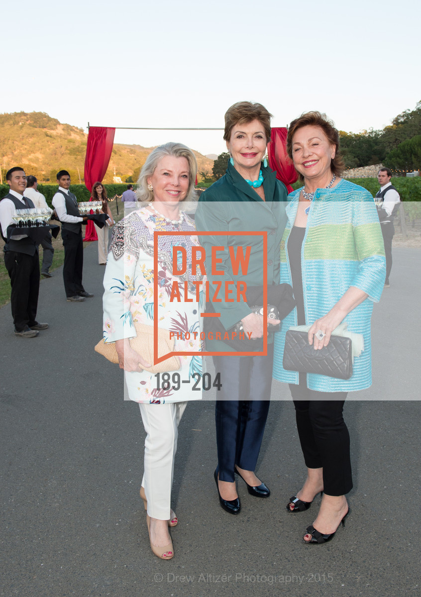 Jeanne Lawrence, Merle Mullin, Maria Manetti Shrem, Festival del Sole Patron Dinner at Quintessa, Quintessa. 1601 Silverado Trail, July 25th, 2015,Drew Altizer, Drew Altizer Photography, full-service agency, private events, San Francisco photographer, photographer california