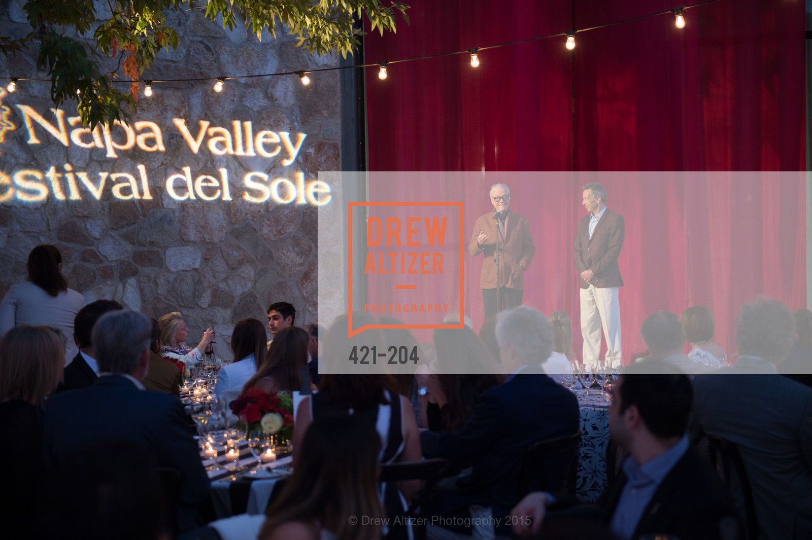 Agustin Huneeus, Rick Walker, Festival del Sole Patron Dinner at Quintessa, Quintessa. 1601 Silverado Trail, July 25th, 2015