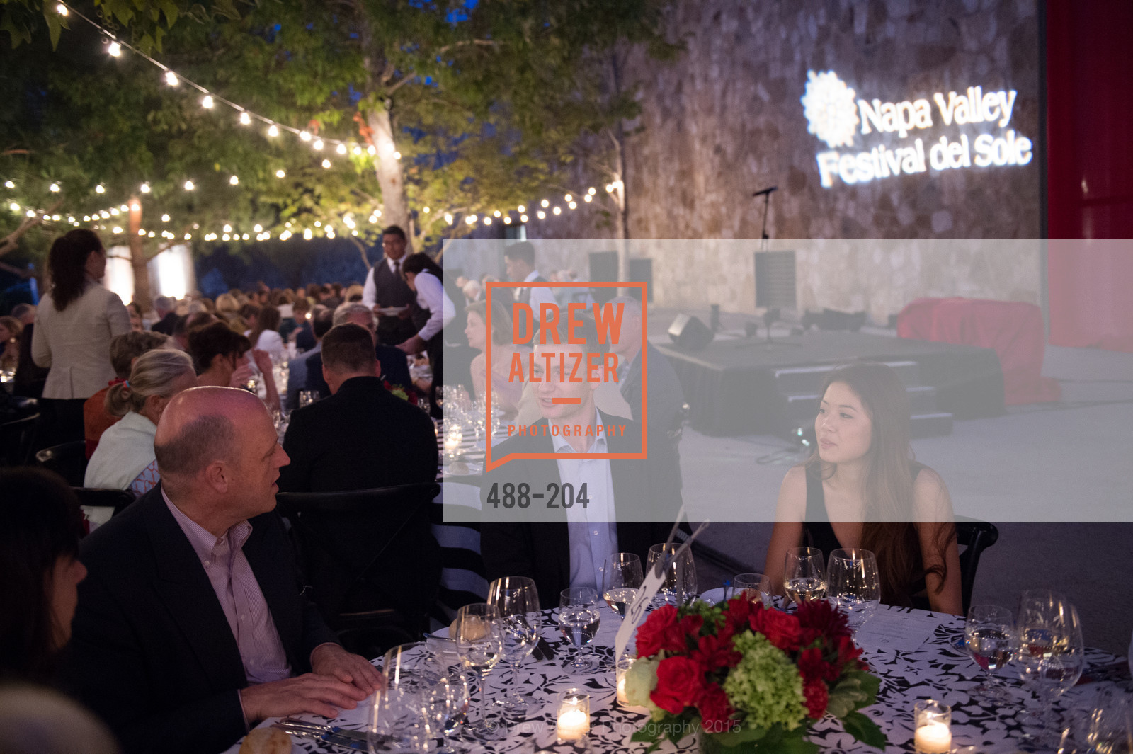 Kevin Walker, Mai Nguyen, Festival del Sole Patron Dinner at Quintessa, Quintessa. 1601 Silverado Trail, July 25th, 2015,Drew Altizer, Drew Altizer Photography, full-service agency, private events, San Francisco photographer, photographer california
