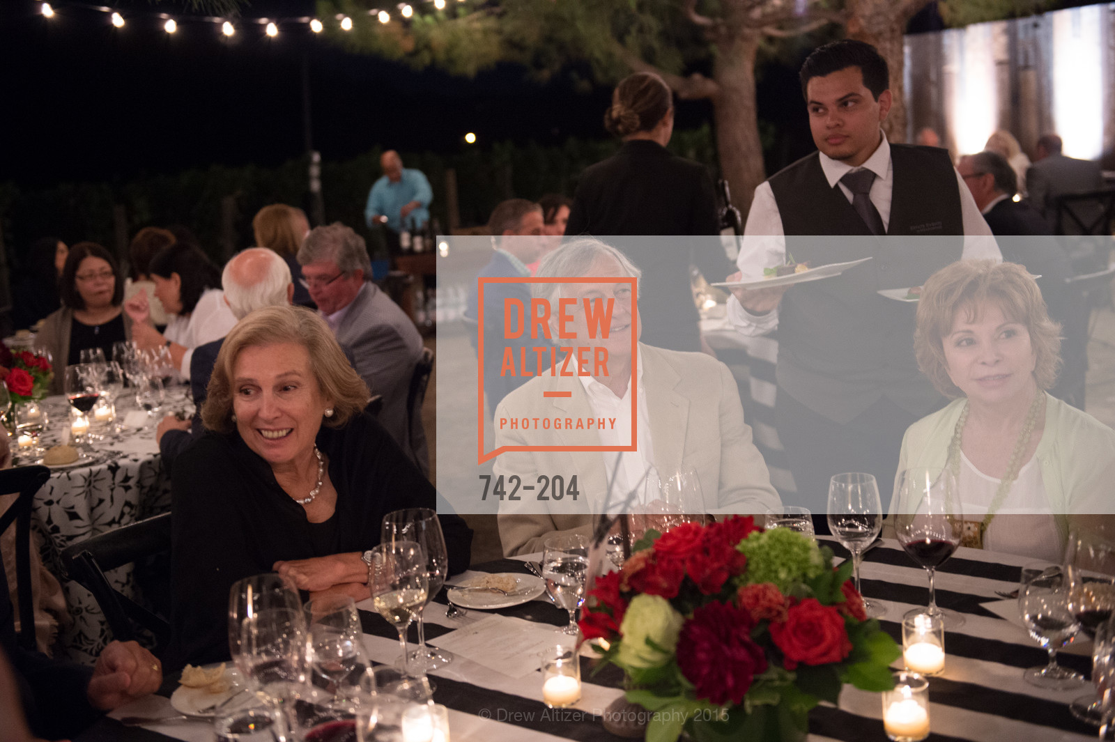 Simon Guendelman, Isabel Allende, Festival del Sole Patron Dinner at Quintessa, Quintessa. 1601 Silverado Trail, July 25th, 2015,Drew Altizer, Drew Altizer Photography, full-service agency, private events, San Francisco photographer, photographer california
