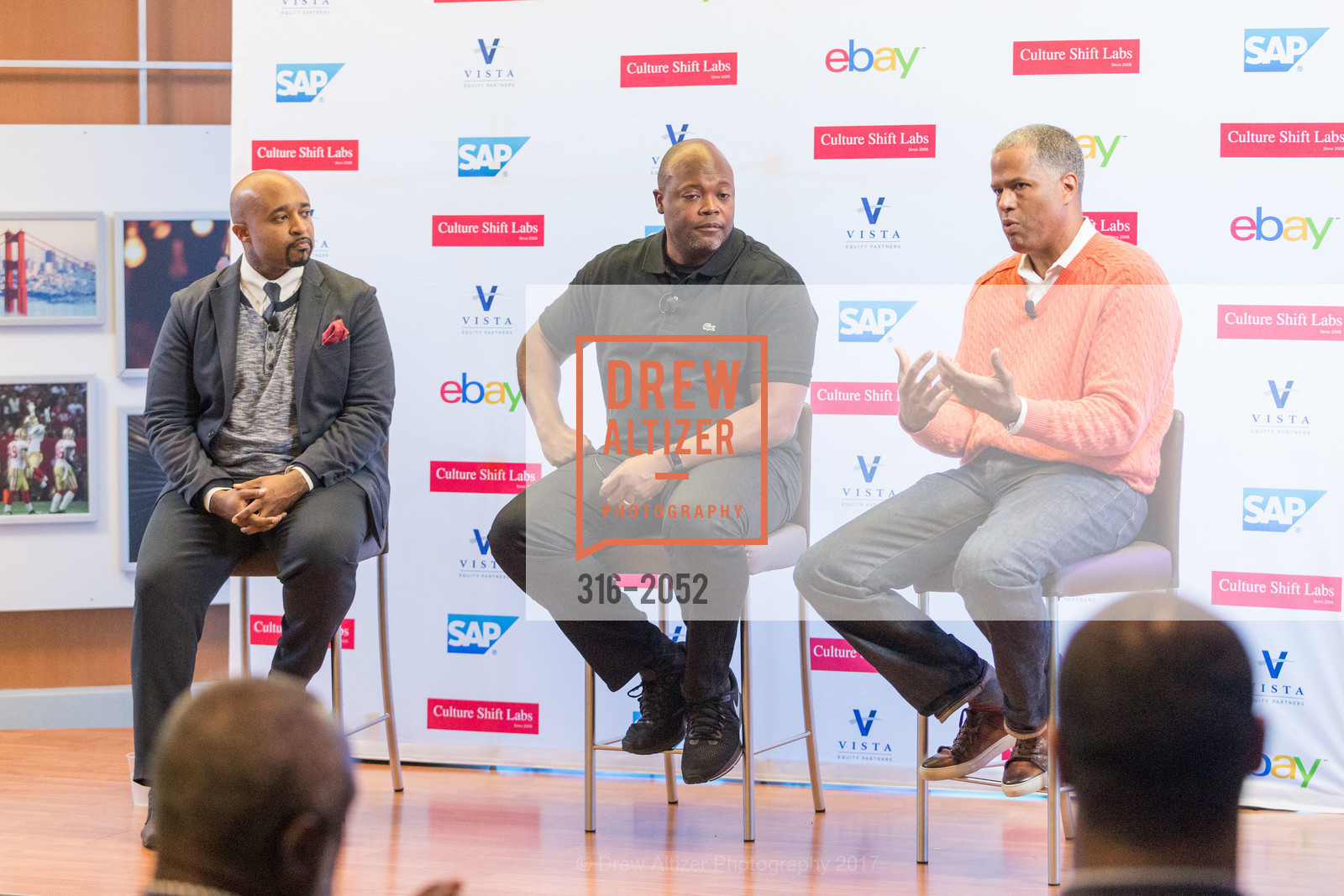 Mike Muse, Cheo Coker, Guy Primus, 3rd Annual Culture Shifting Weekend- Fireside Chat, SAP, 1st Floor Cafe. 3410 Hillview Avenue, April 21st, 2017