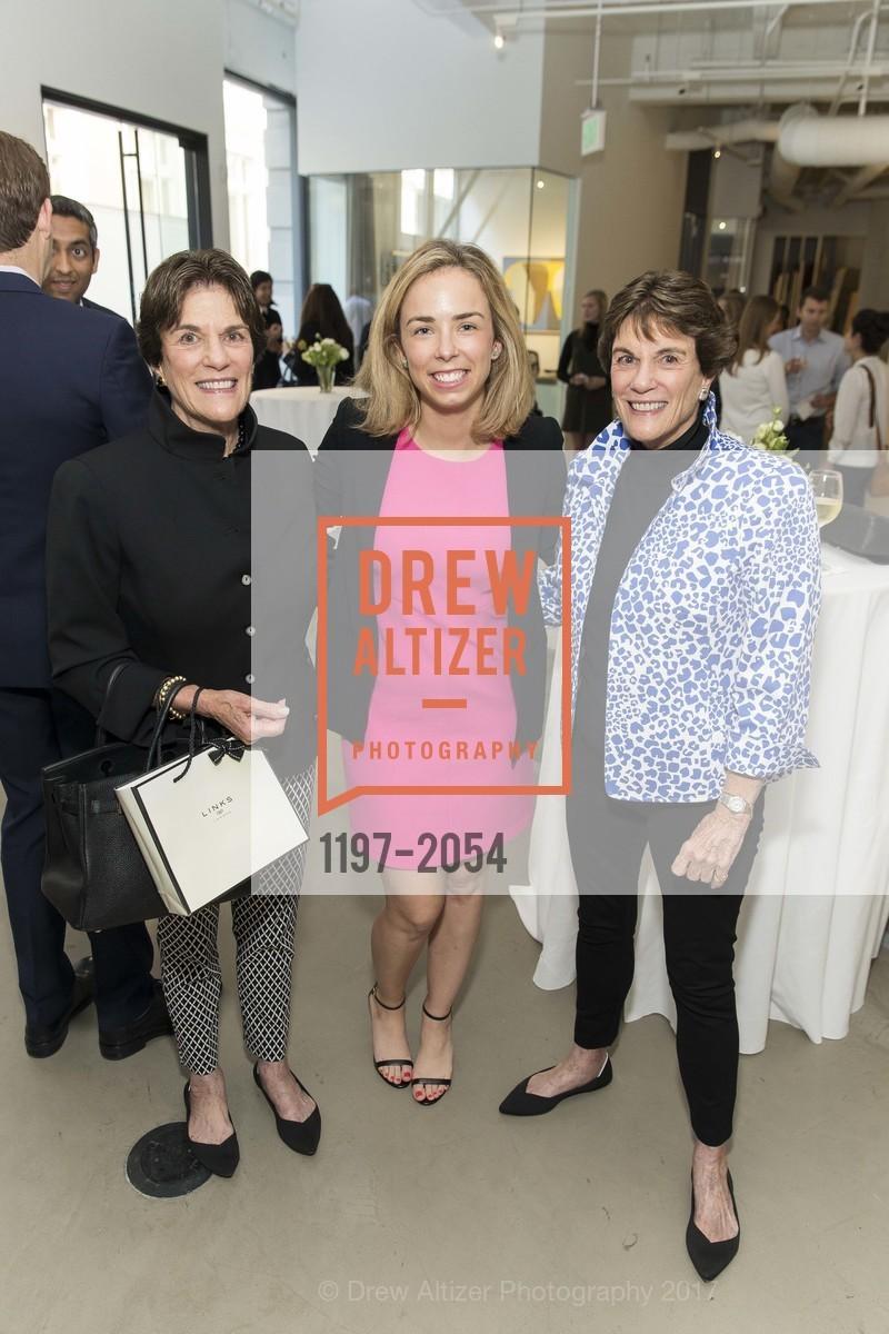 Francie Ostheimer, Christine Aschwald, Glennie Eisele, Christie's Spring Tour 2017, Wendi Norris Gallery. Van 161 Jesse Street, April 20th, 2017
