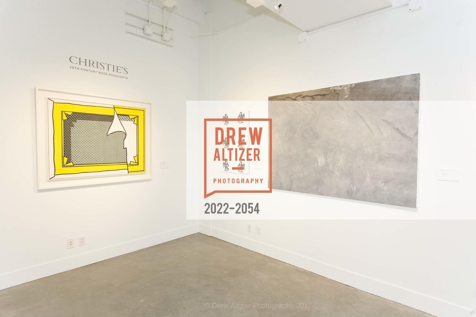 Atmosphere, Christie's Spring Tour 2017, Wendi Norris Gallery. Van 161 Jesse Street, April 20th, 2017