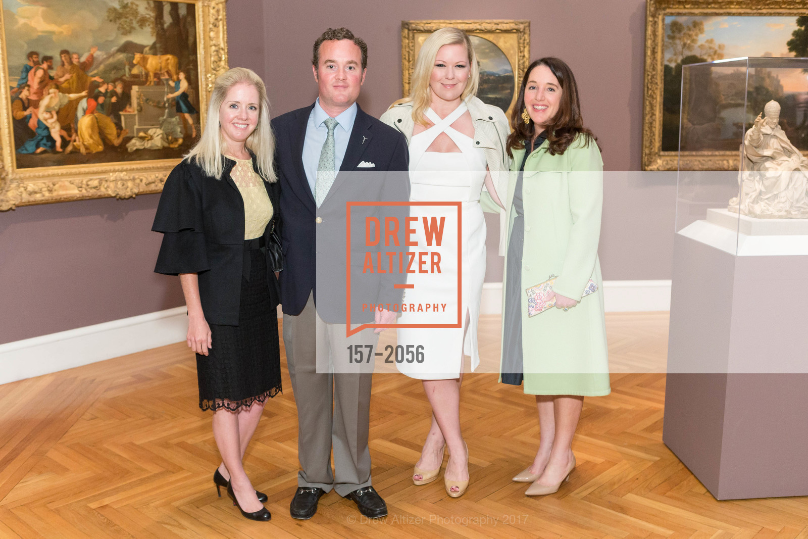 Wheeler Griffith, Millen Griffith, Liz Curtis, Mimi Olzs, Urs Fischer Opening at the Legion of Honor and Fiorella, Legion of Honor, April 20th, 2017