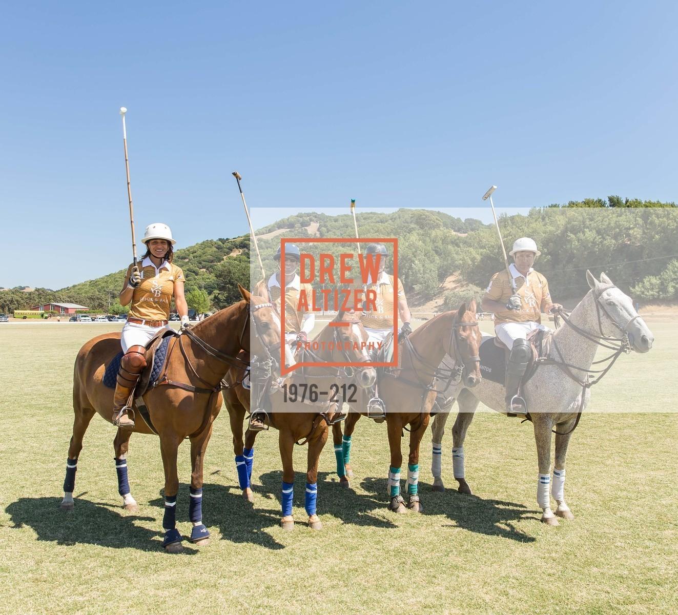 Elizabeth Welborn, Pat Nesbitt, Santos Arriola, Stick & Ball Oyster Cup Polo Tournament, Cerro Pampa Polo Club, July 25th, 2015