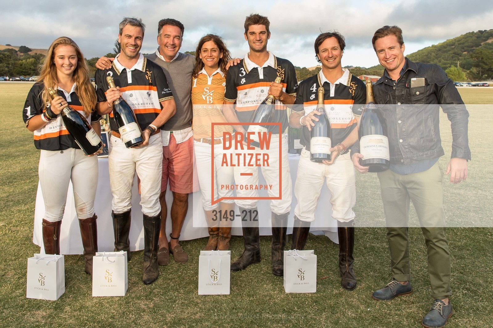 Fiona Bach, Jonathan Haswell, Michael Polenske, Elizabeth Welborn, Ignacio Deltour, John Bickford, Benjamin Rotnicki, Stick & Ball Oyster Cup Polo Tournament, Cerro Pampa Polo Club, July 25th, 2015,Drew Altizer, Drew Altizer Photography, full-service agency, private events, San Francisco photographer, photographer california