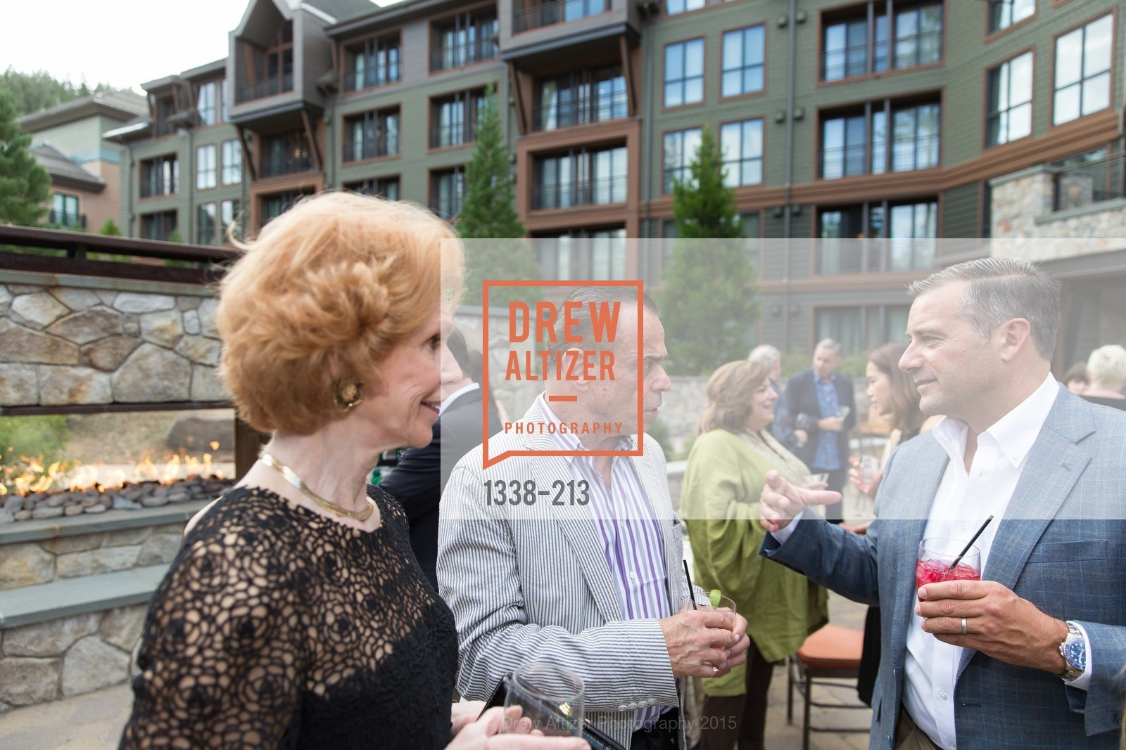 Patricia Jeffries, Boaz Mazor, Aaron Giovara, League to Save Lake Tahoe Sponsor Cocktail Party, Ritz-Carlton, Lake Tahoe, July 31st, 2015