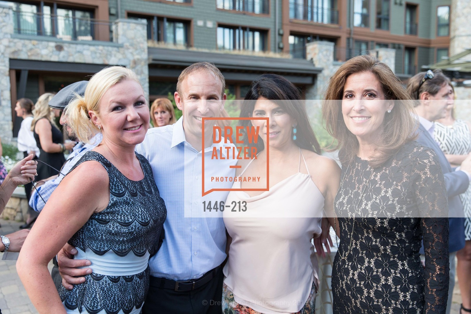 Kristen DeMay, Chris DeMay, Sujata Pherwani, Lauren Hancock, League to Save Lake Tahoe Sponsor Cocktail Party, Ritz-Carlton, Lake Tahoe, July 31st, 2015,Drew Altizer, Drew Altizer Photography, full-service agency, private events, San Francisco photographer, photographer california