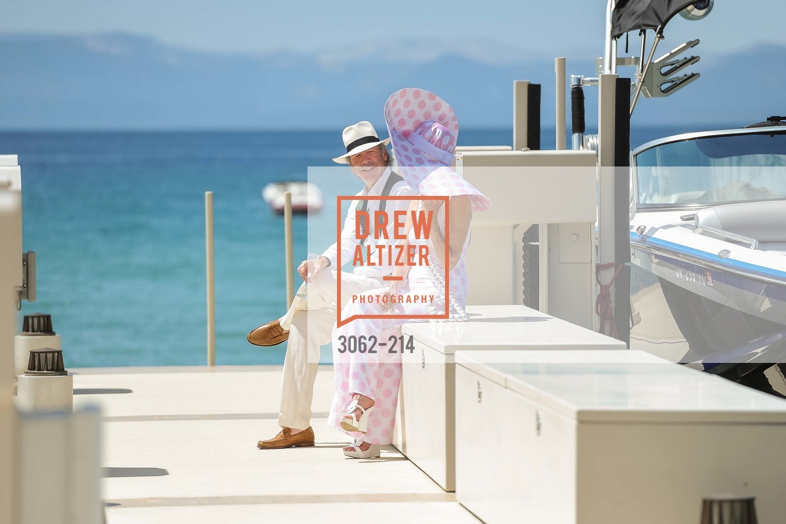 Tom Barrett, Belinda Berry, Saks Fifth Avenue and The League to Save Lake Tahoe Present Fashion on the Lake, Private Residence, August 1st, 2015,Drew Altizer, Drew Altizer Photography, full-service agency, private events, San Francisco photographer, photographer california