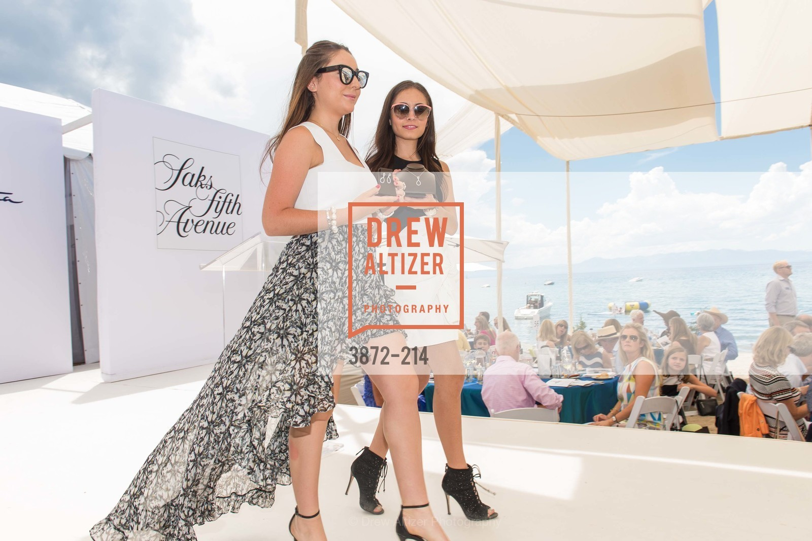 Jenni Gellman, Sydney Seligman, Saks Fifth Avenue and The League to Save Lake Tahoe Present Fashion on the Lake, Private Residence, August 1st, 2015,Drew Altizer, Drew Altizer Photography, full-service agency, private events, San Francisco photographer, photographer california