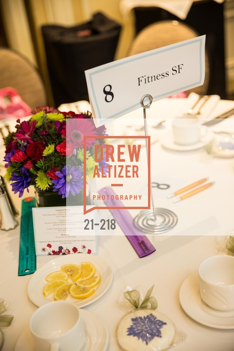 Atmosphere, Salvation Army Flower Power Luncheon, Sir Francis Drake Hotel. 450 Powell St, August 4th, 2015