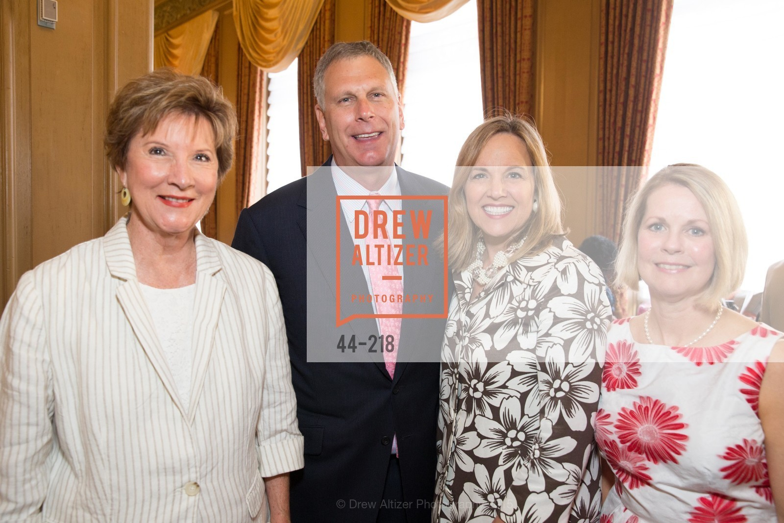 Sherial Heller, Ernst Bauer, Lisa Syne, Leslie Bauer, Salvation Army Flower Power Luncheon, Sir Francis Drake Hotel. 450 Powell St, August 4th, 2015,Drew Altizer, Drew Altizer Photography, full-service agency, private events, San Francisco photographer, photographer california