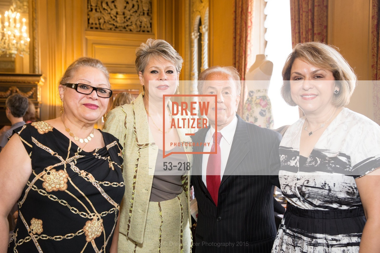Susan Ghasemy, Sonia Tahbazof, Zand Rez, Mina Beigi, Salvation Army Flower Power Luncheon, Sir Francis Drake Hotel. 450 Powell St, August 4th, 2015,Drew Altizer, Drew Altizer Photography, full-service agency, private events, San Francisco photographer, photographer california
