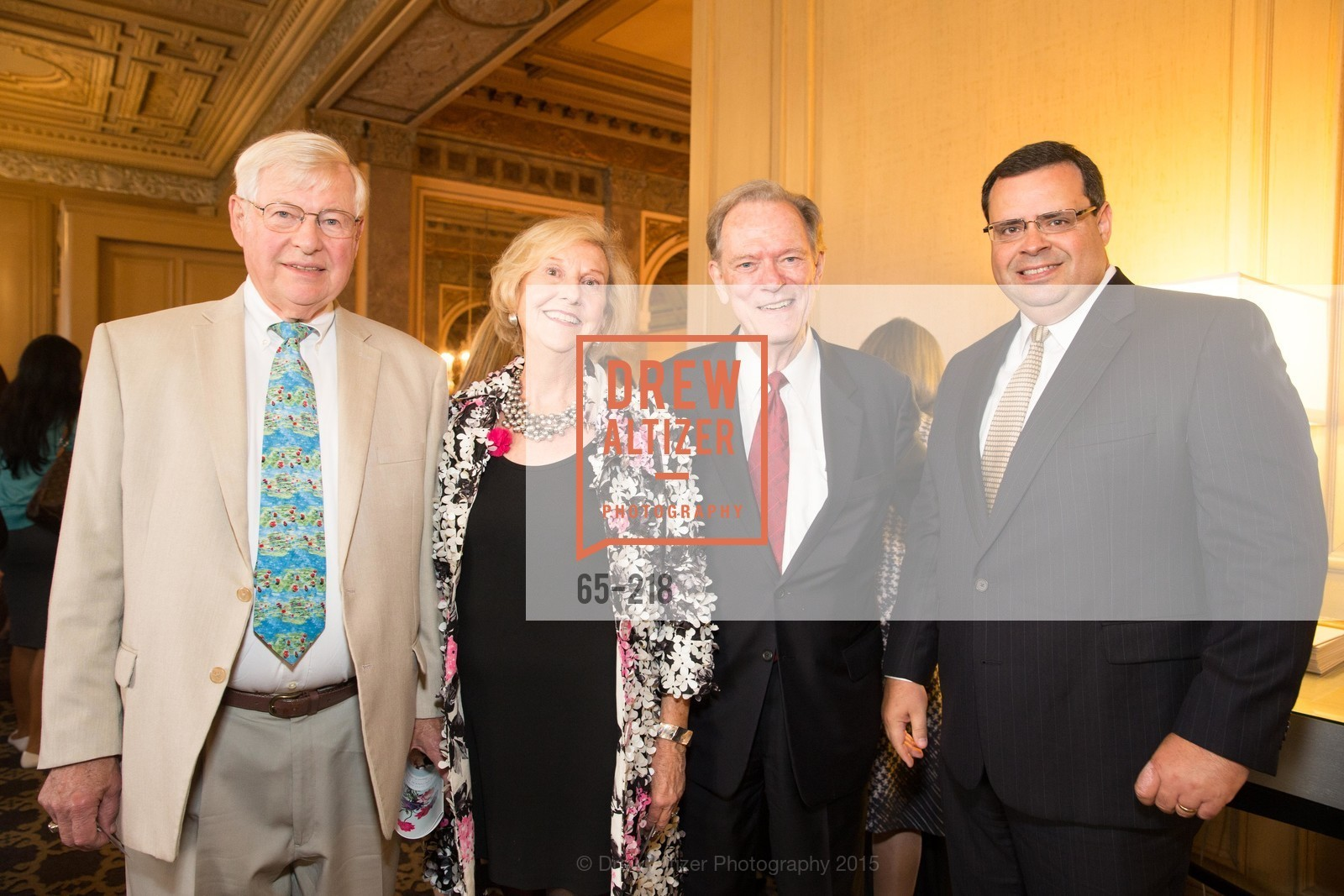 David Behlmer, Judith Heuser, Fred LaCosse, Brent Beagoet, Salvation Army Flower Power Luncheon, Sir Francis Drake Hotel. 450 Powell St, August 4th, 2015,Drew Altizer, Drew Altizer Photography, full-service agency, private events, San Francisco photographer, photographer california