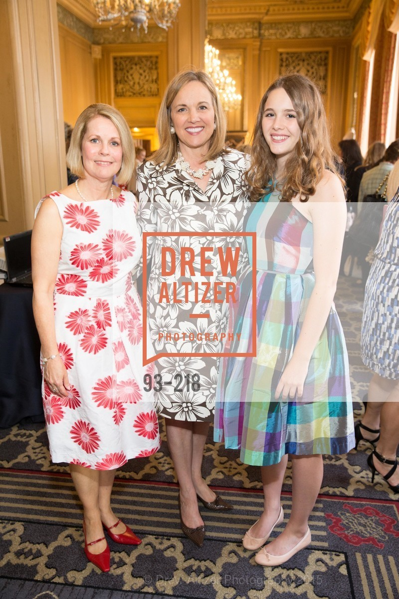 Leslie Bauer, Lisa Syne, Ellsey Syne, Salvation Army Flower Power Luncheon, Sir Francis Drake Hotel. 450 Powell St, August 4th, 2015,Drew Altizer, Drew Altizer Photography, full-service agency, private events, San Francisco photographer, photographer california