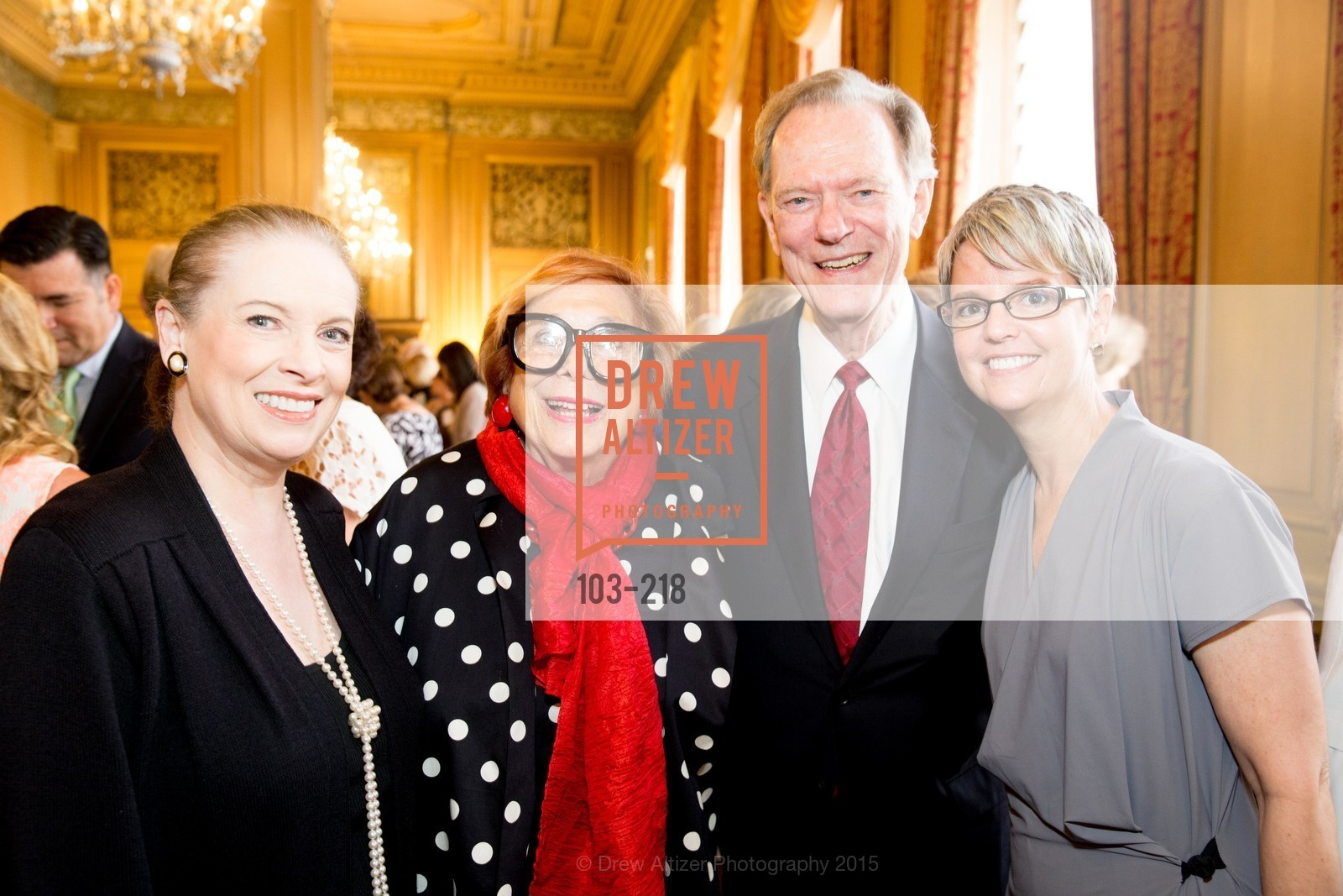 Terry Lowry, Ellen Newman, Fred LaCosse, Julia Beabout, Salvation Army Flower Power Luncheon, Sir Francis Drake Hotel. 450 Powell St, August 4th, 2015,Drew Altizer, Drew Altizer Photography, full-service agency, private events, San Francisco photographer, photographer california