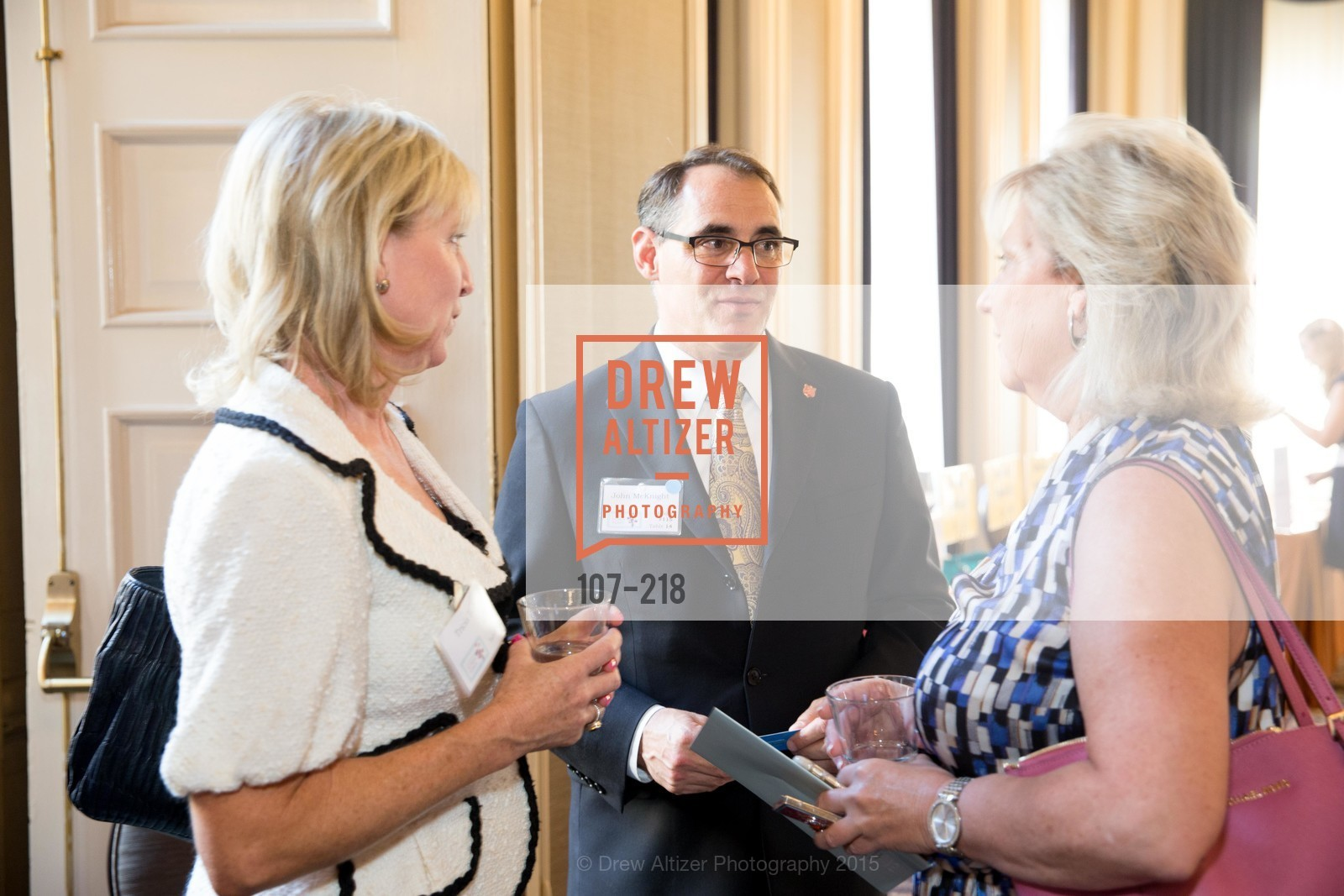 Tricia Holt, John McKnight, Devena Witcher, Salvation Army Flower Power Luncheon, Sir Francis Drake Hotel. 450 Powell St, August 4th, 2015,Drew Altizer, Drew Altizer Photography, full-service agency, private events, San Francisco photographer, photographer california