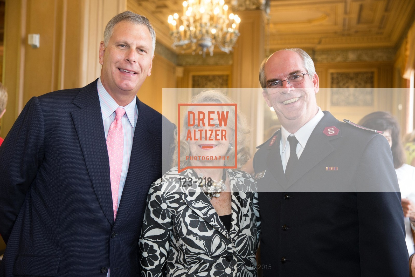 Ernst Bauer, Irene Bechtel, Tim Foley, Salvation Army Flower Power Luncheon, Sir Francis Drake Hotel. 450 Powell St, August 4th, 2015,Drew Altizer, Drew Altizer Photography, full-service agency, private events, San Francisco photographer, photographer california