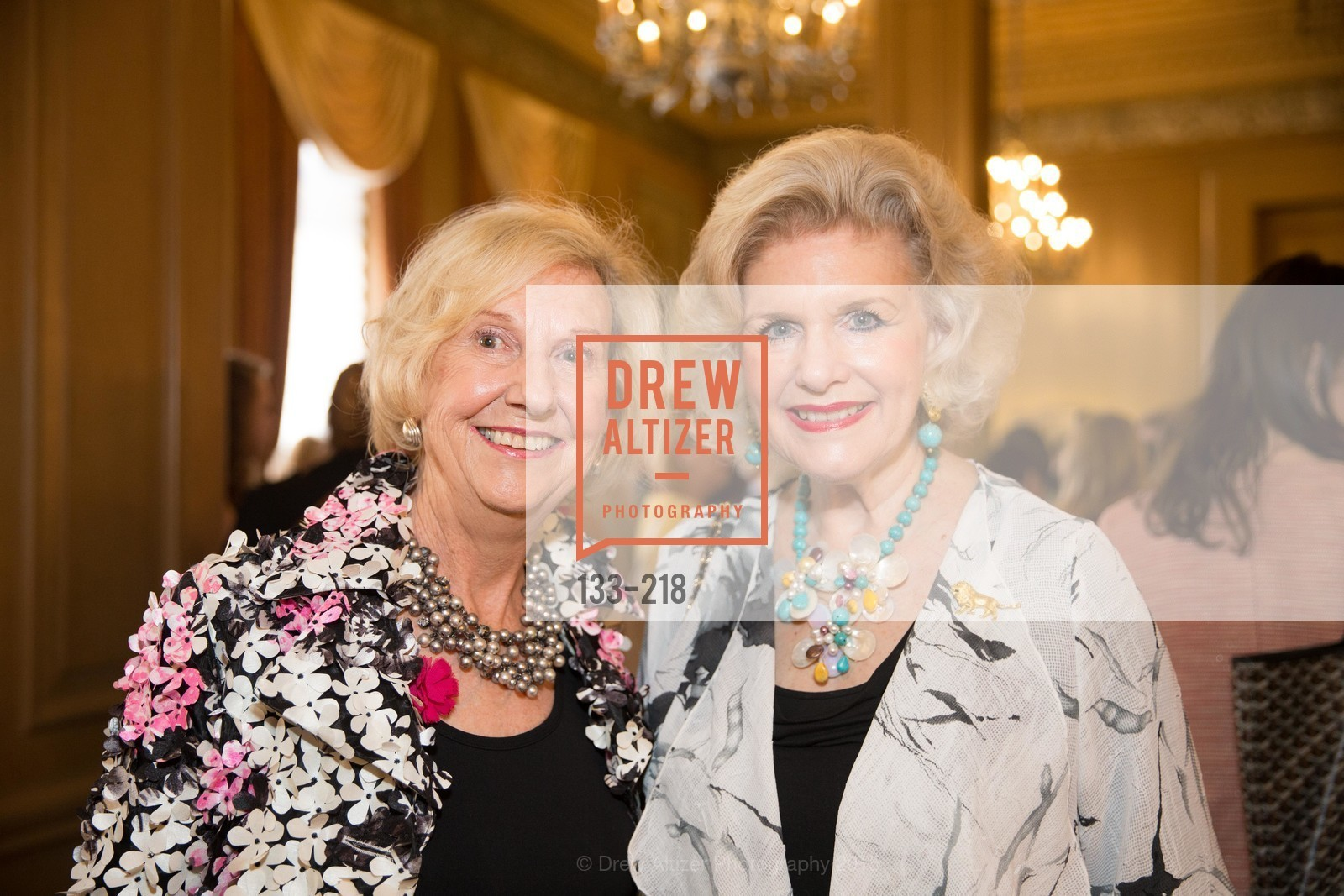 Judith Heuser, Diane Paulson, Salvation Army Flower Power Luncheon, Sir Francis Drake Hotel. 450 Powell St, August 4th, 2015,Drew Altizer, Drew Altizer Photography, full-service agency, private events, San Francisco photographer, photographer california