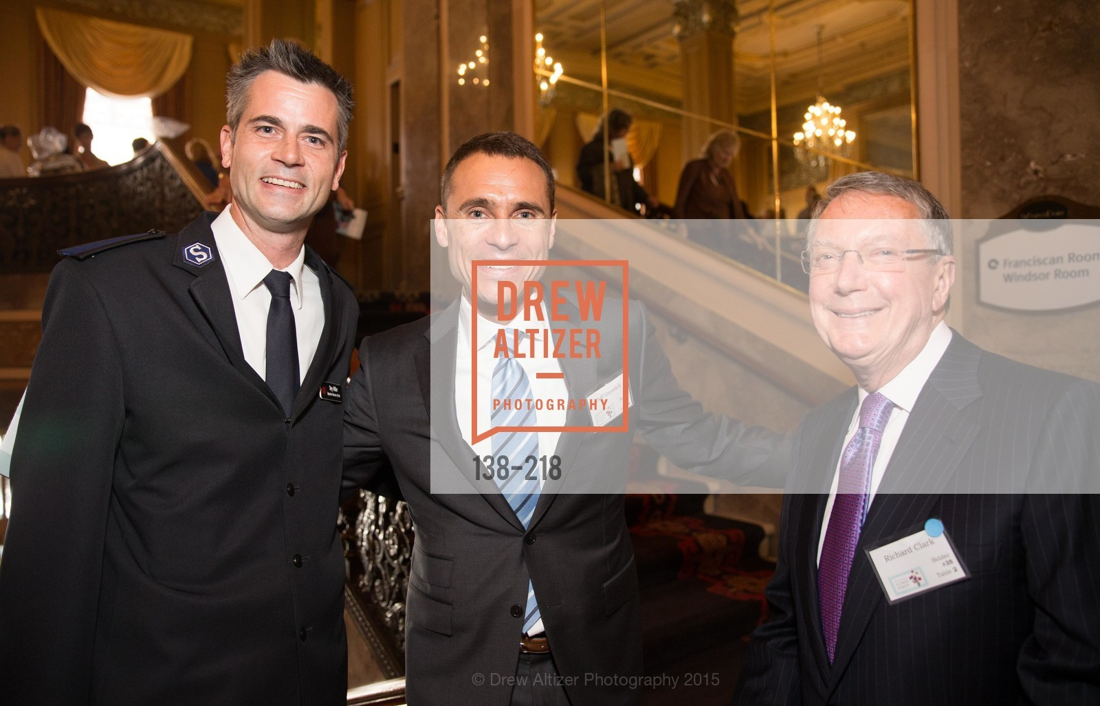 Tray Hiller, Jeff Garelick, Richard Clark, Salvation Army Flower Power Luncheon, Sir Francis Drake Hotel. 450 Powell St, August 4th, 2015,Drew Altizer, Drew Altizer Photography, full-service agency, private events, San Francisco photographer, photographer california