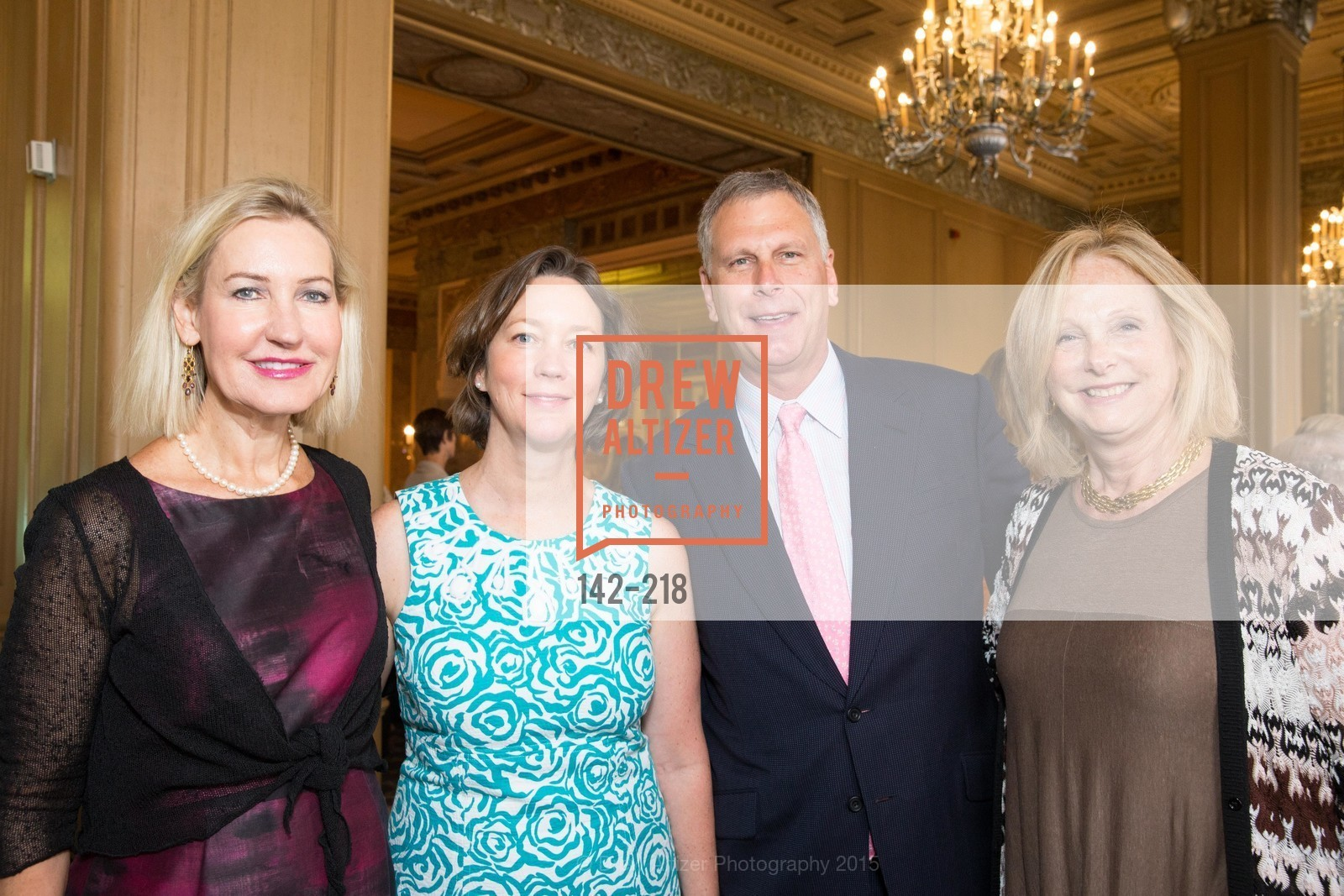 Katherine Lawrence, Kirsten Vernon, Ernst Bauer, Liz Wells, Salvation Army Flower Power Luncheon, Sir Francis Drake Hotel. 450 Powell St, August 4th, 2015,Drew Altizer, Drew Altizer Photography, full-service agency, private events, San Francisco photographer, photographer california