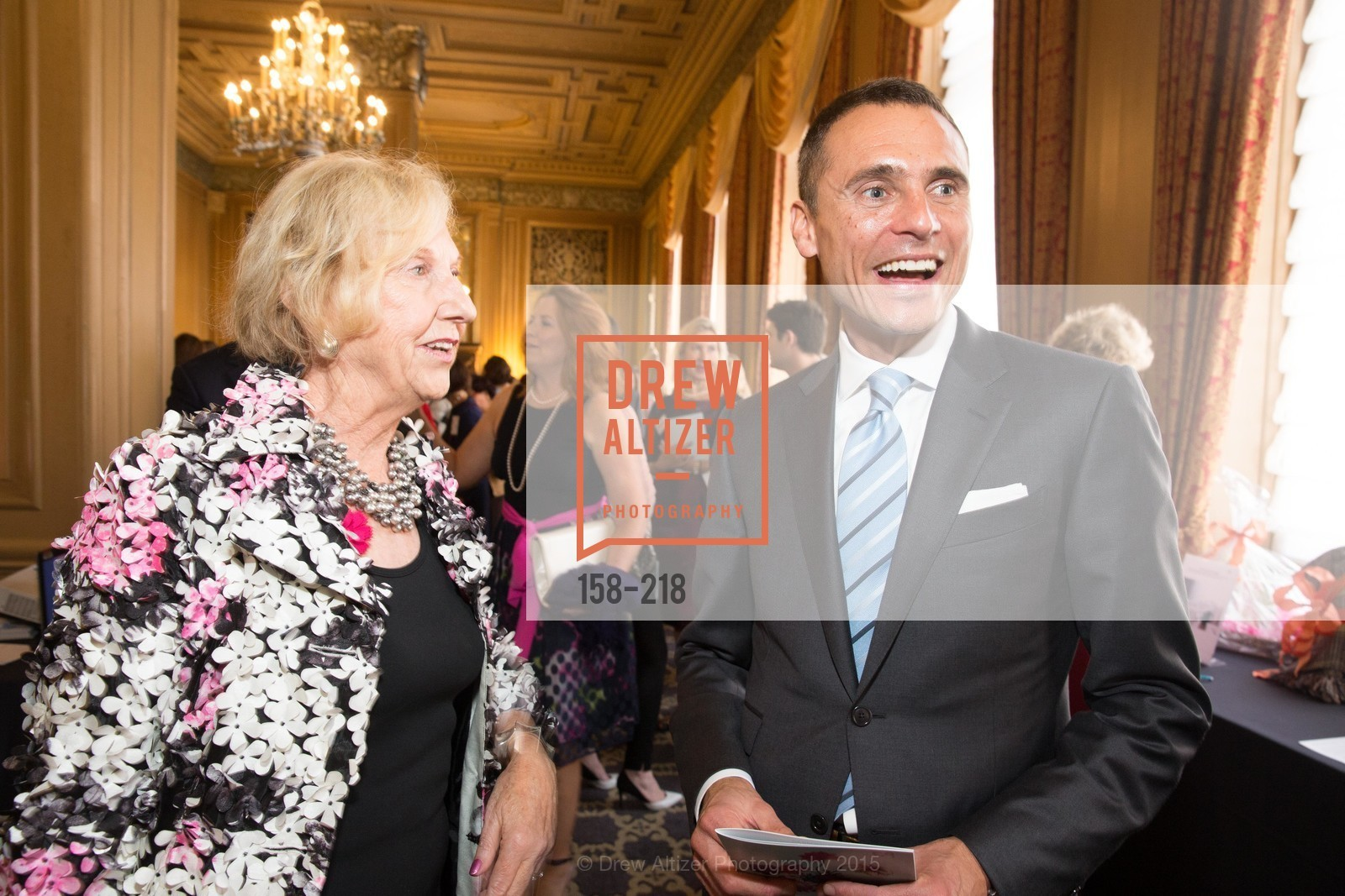 Judith Heuser, Jeff Garelick, Salvation Army Flower Power Luncheon, Sir Francis Drake Hotel. 450 Powell St, August 4th, 2015,Drew Altizer, Drew Altizer Photography, full-service event agency, private events, San Francisco photographer, photographer California