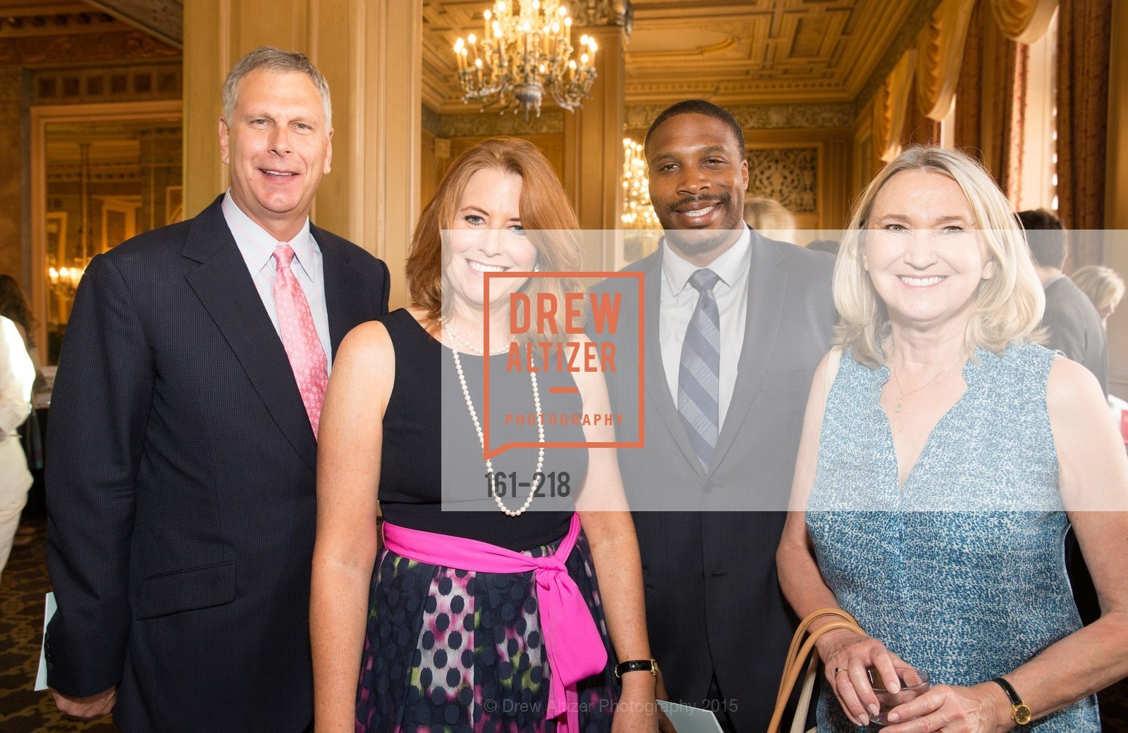 Ernst Bauer, Jeannine Vaughan, Derrick Brown, Salvation Army Flower Power Luncheon, Sir Francis Drake Hotel. 450 Powell St, August 4th, 2015,Drew Altizer, Drew Altizer Photography, full-service agency, private events, San Francisco photographer, photographer california