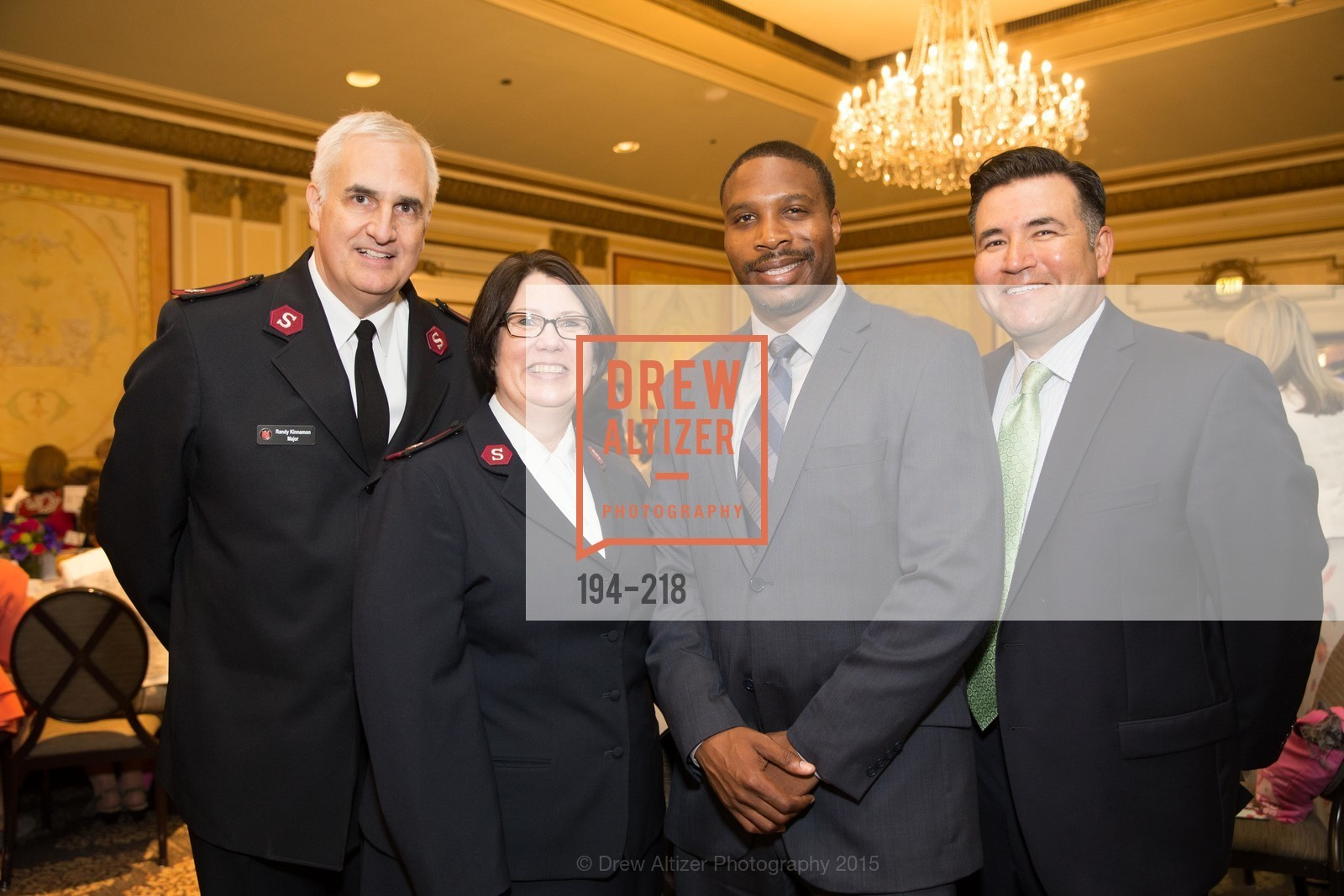 Randy Kinnamon, Cheryl Kinnamon, Derrick Brown, Enrique Obando, Salvation Army Flower Power Luncheon, Sir Francis Drake Hotel. 450 Powell St, August 4th, 2015,Drew Altizer, Drew Altizer Photography, full-service agency, private events, San Francisco photographer, photographer california