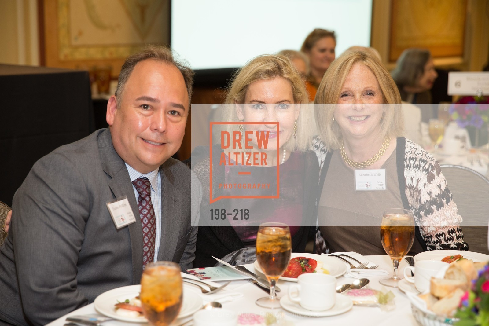 Duane Phillips, Katherine Lawrence, Liz Wells, Salvation Army Flower Power Luncheon, Sir Francis Drake Hotel. 450 Powell St, August 4th, 2015,Drew Altizer, Drew Altizer Photography, full-service agency, private events, San Francisco photographer, photographer california