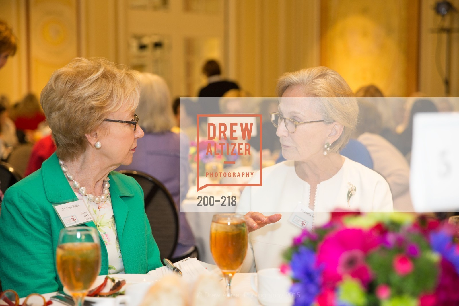 Jo-Ann Rose, Pamela, Salvation Army Flower Power Luncheon, Sir Francis Drake Hotel. 450 Powell St, August 4th, 2015,Drew Altizer, Drew Altizer Photography, full-service agency, private events, San Francisco photographer, photographer california