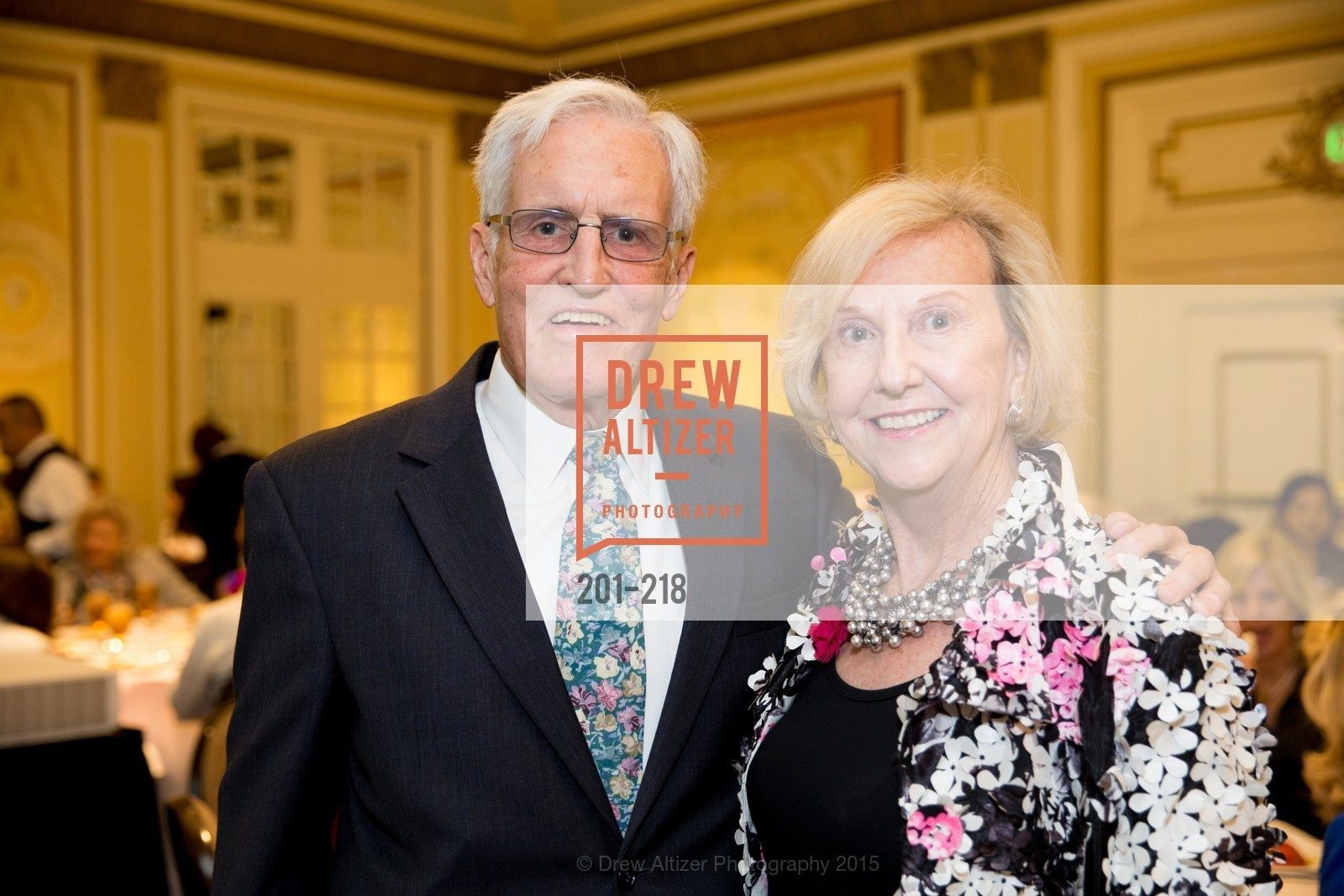 Fred Heuser, Judith Heuser, Salvation Army Flower Power Luncheon, Sir Francis Drake Hotel. 450 Powell St, August 4th, 2015,Drew Altizer, Drew Altizer Photography, full-service agency, private events, San Francisco photographer, photographer california